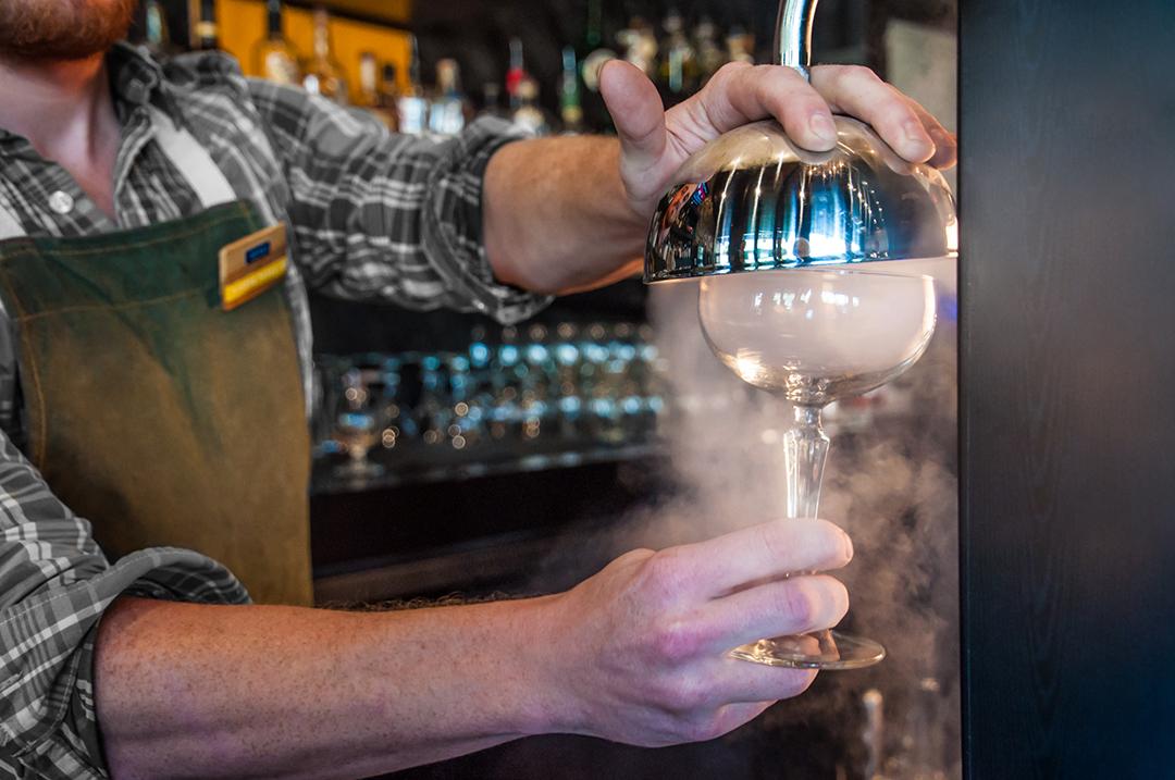Bartender Smoking Glass | Photo Credit: Anna Robi