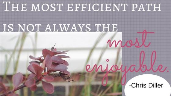 enjoyable not efficient