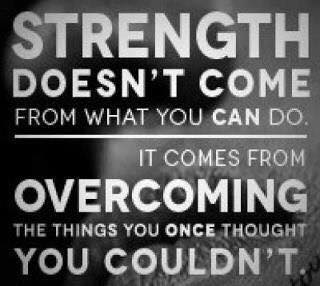 Real Strength - comes from victory in the Holy Spirit sanctifying us from previous strongholds