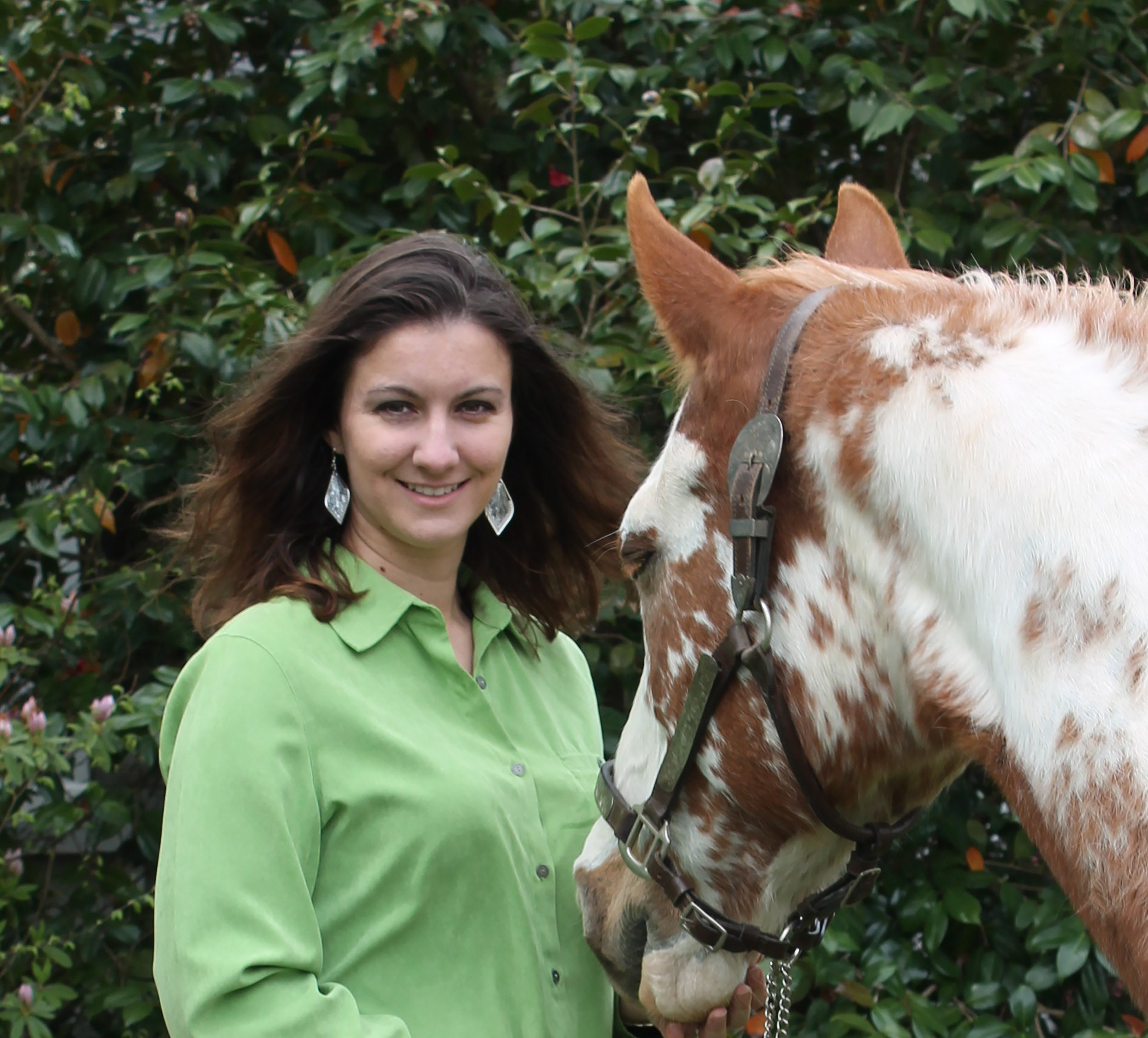 Misty Beller, author, and her horse.