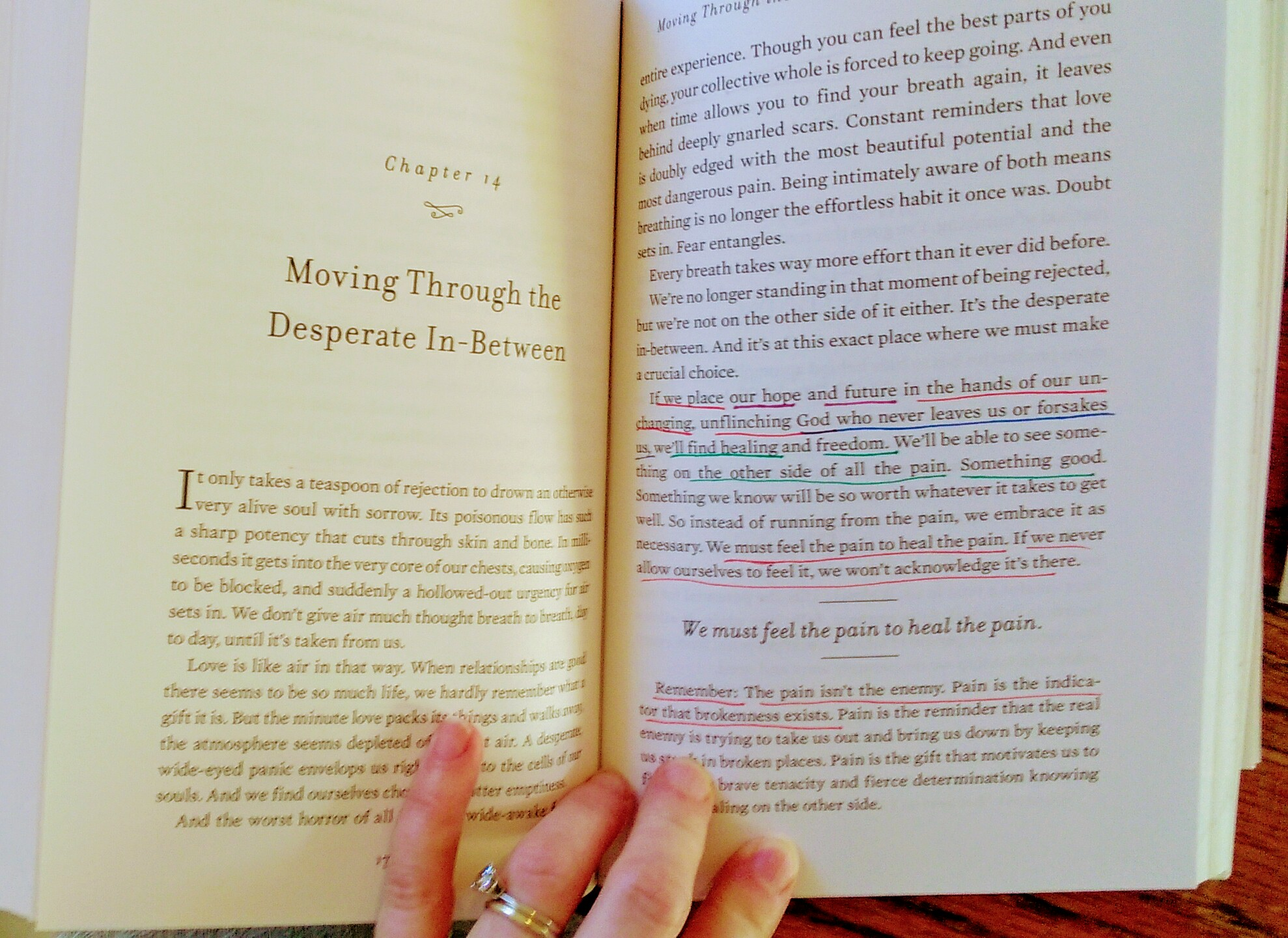 Uninvited   by Lysa TerKeurst, a look inside at my color-coded notes.