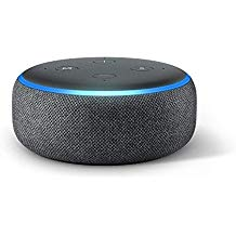 Amazon Echo Dot  (3rd generation) with Alexa, charcoal.