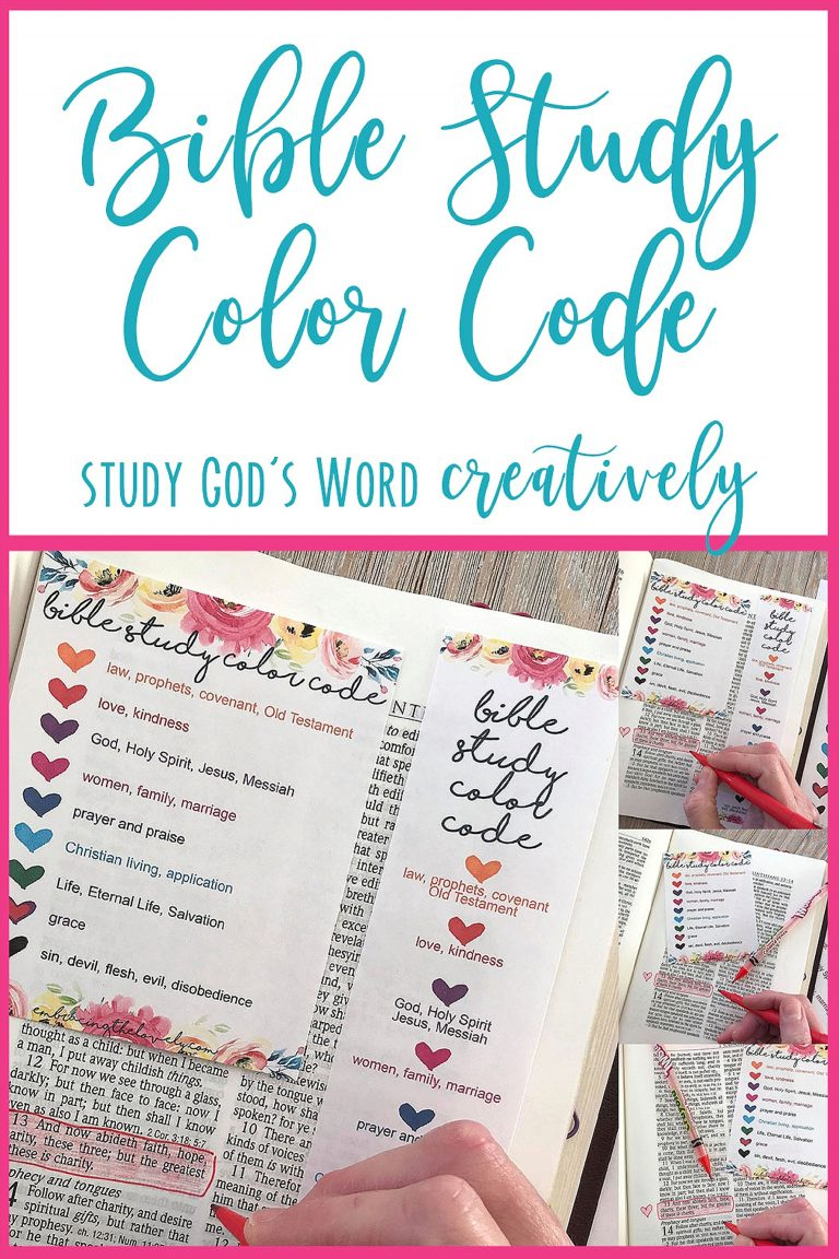 Study the Bible creatively with the  Bible Study Color Code  by Embracing the Lovely.