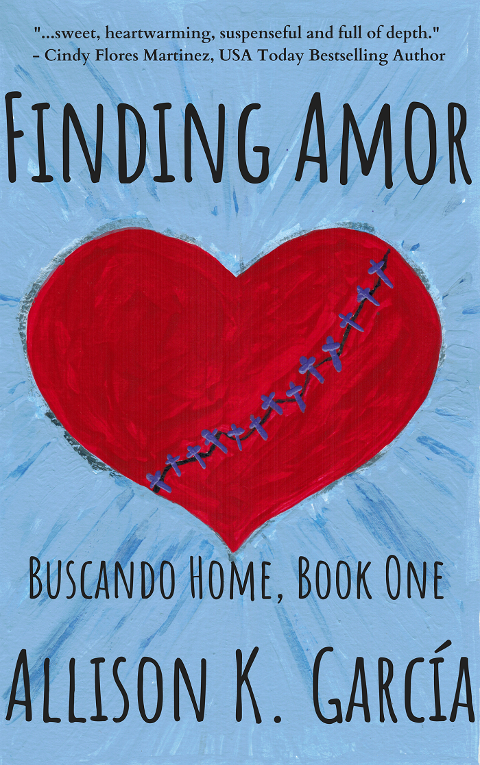 Finding Amor cover by Allison K. Garcia,  purchase at Amazon  this longer read in paperback (through my affiliate link). Also available in ebook.