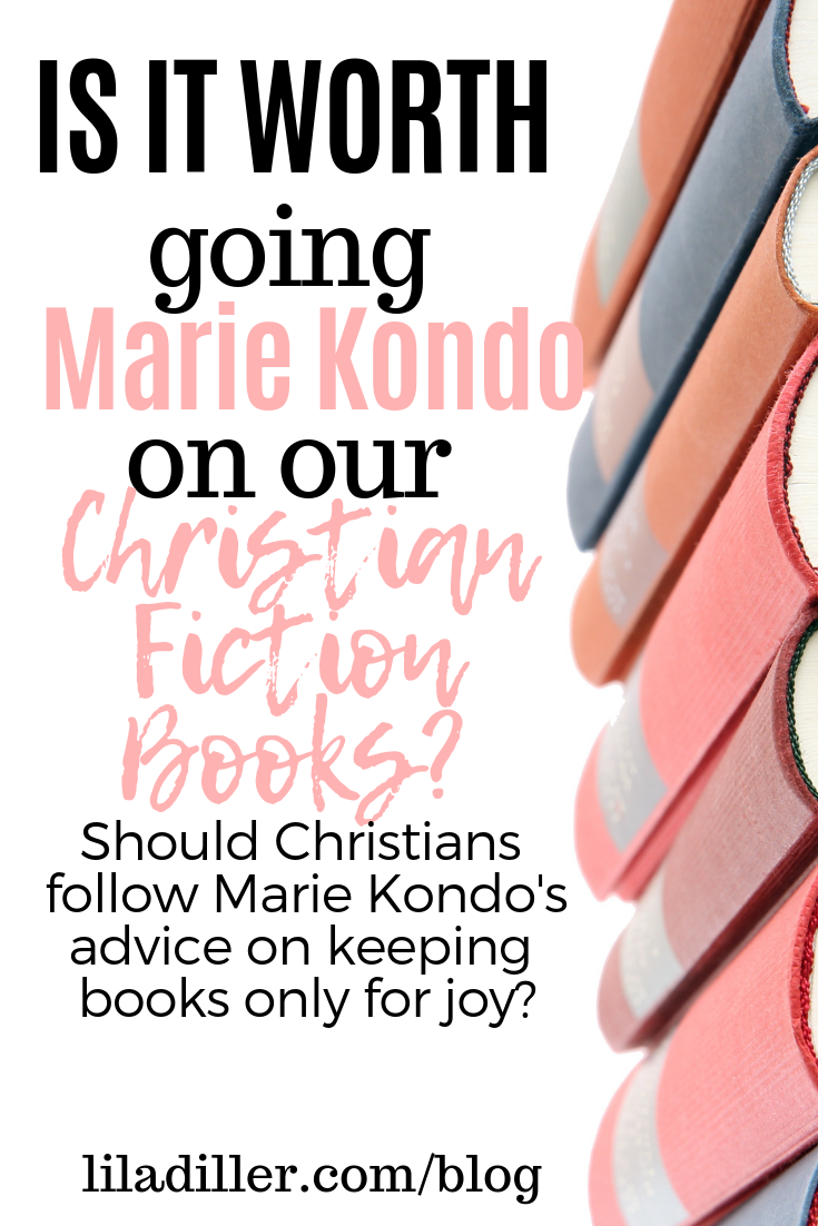 Should Christians follow Marie Kondo's advice on keeping books only for joy? www.liladiller.com/blog/marie-kondo-book-decluttering-response.