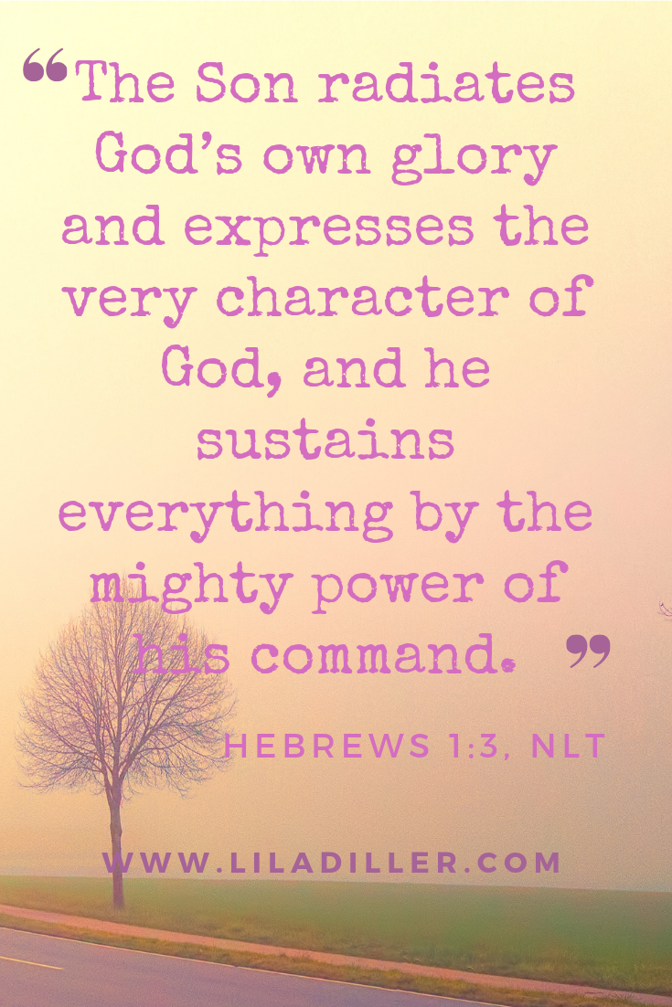 Look to Jesus as the ultimate expression of who God is. Hebrews 1:3.