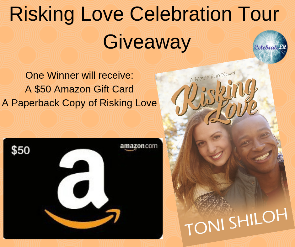 Giveaway.of $50 Amazon gift card and a copy of Risking Love!