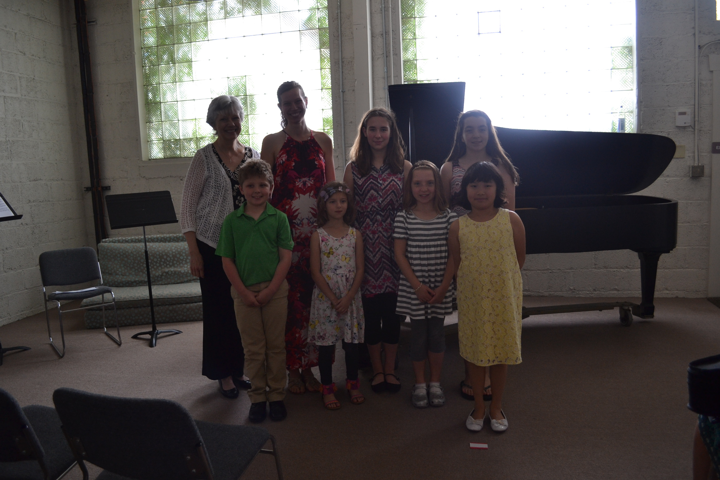 Performers at Ms. Elisabeth's Community Concert