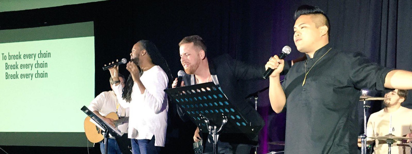 From  TRP Website . Leading worship with my brothers  Darren Calhoun  and  Kevin Garcia