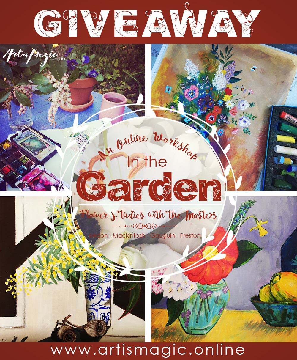 In the Garden- Mixed Media workshop at Art is Magic.online