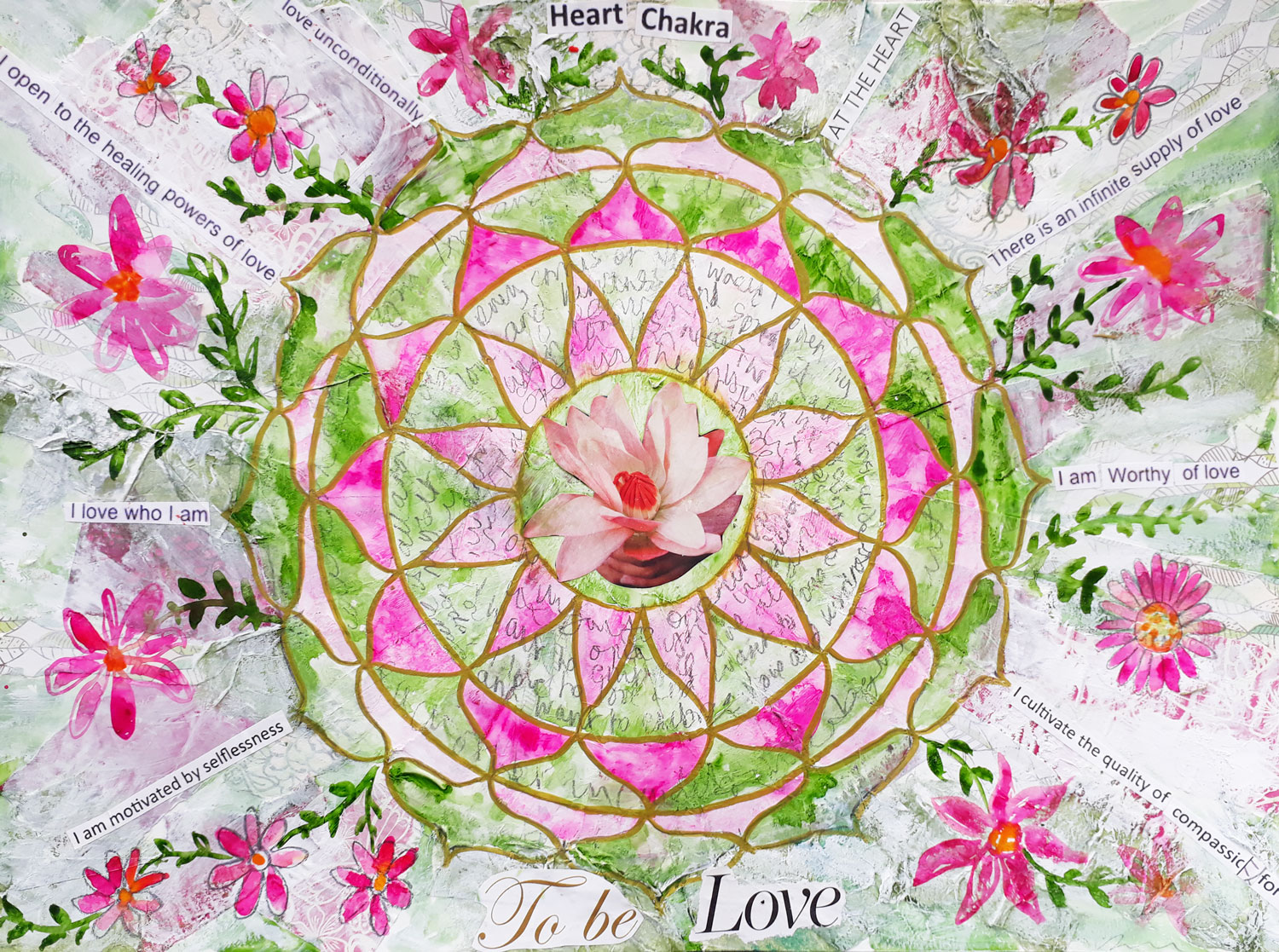 Louise Gale Mandala workshop mixed media