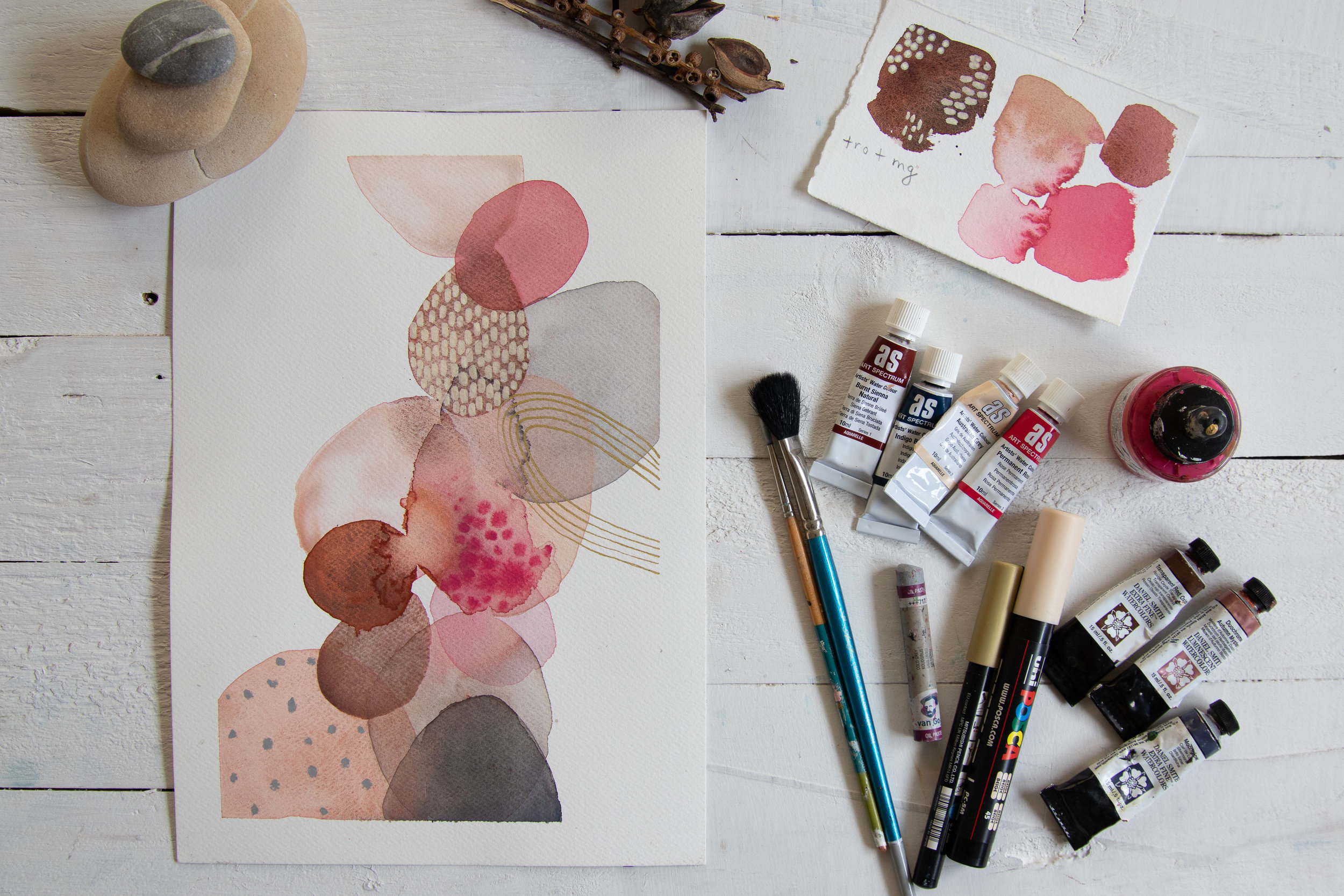 Watercolour lesson with Laura Horn