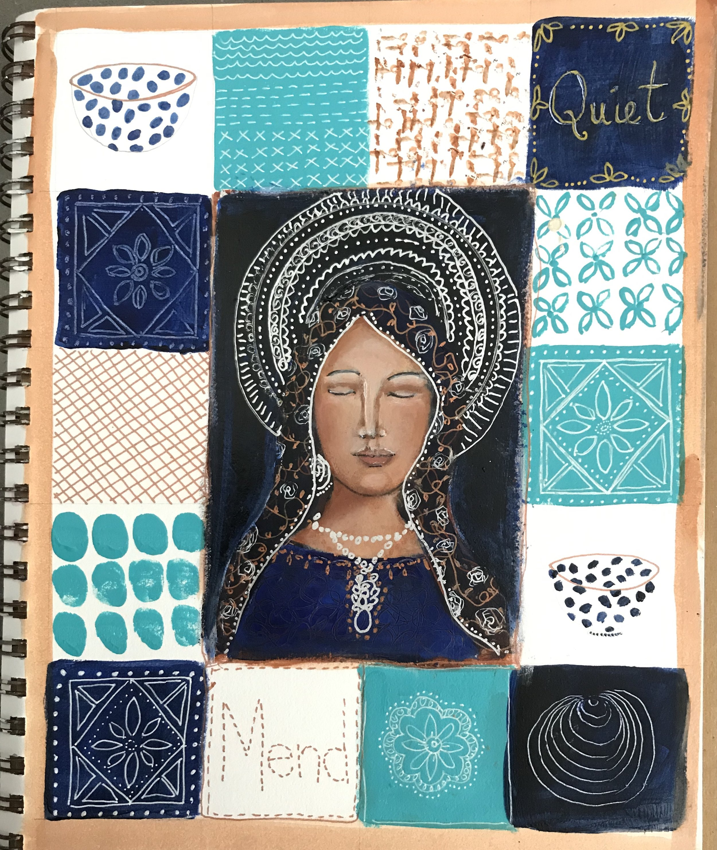 Art journaling lesson with Denise Daffara