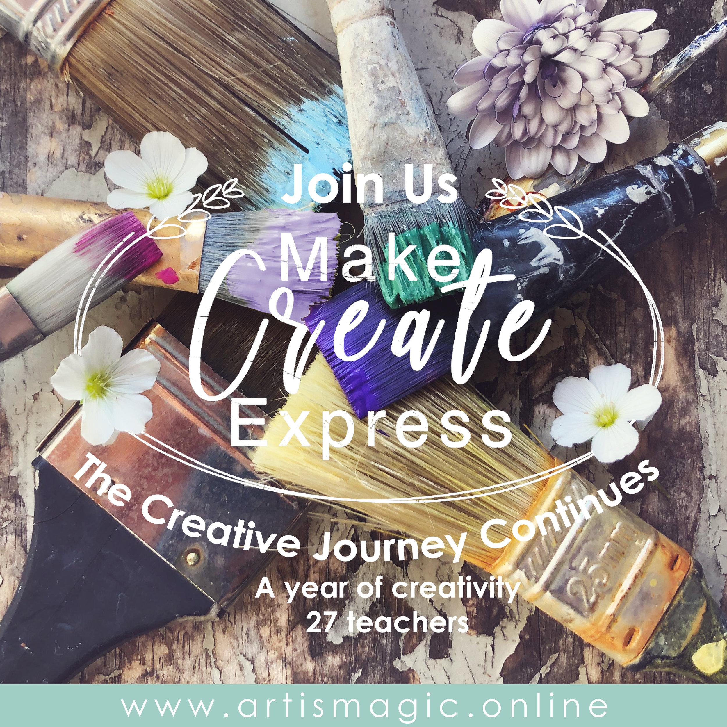 Make Create Express mixed media workshop