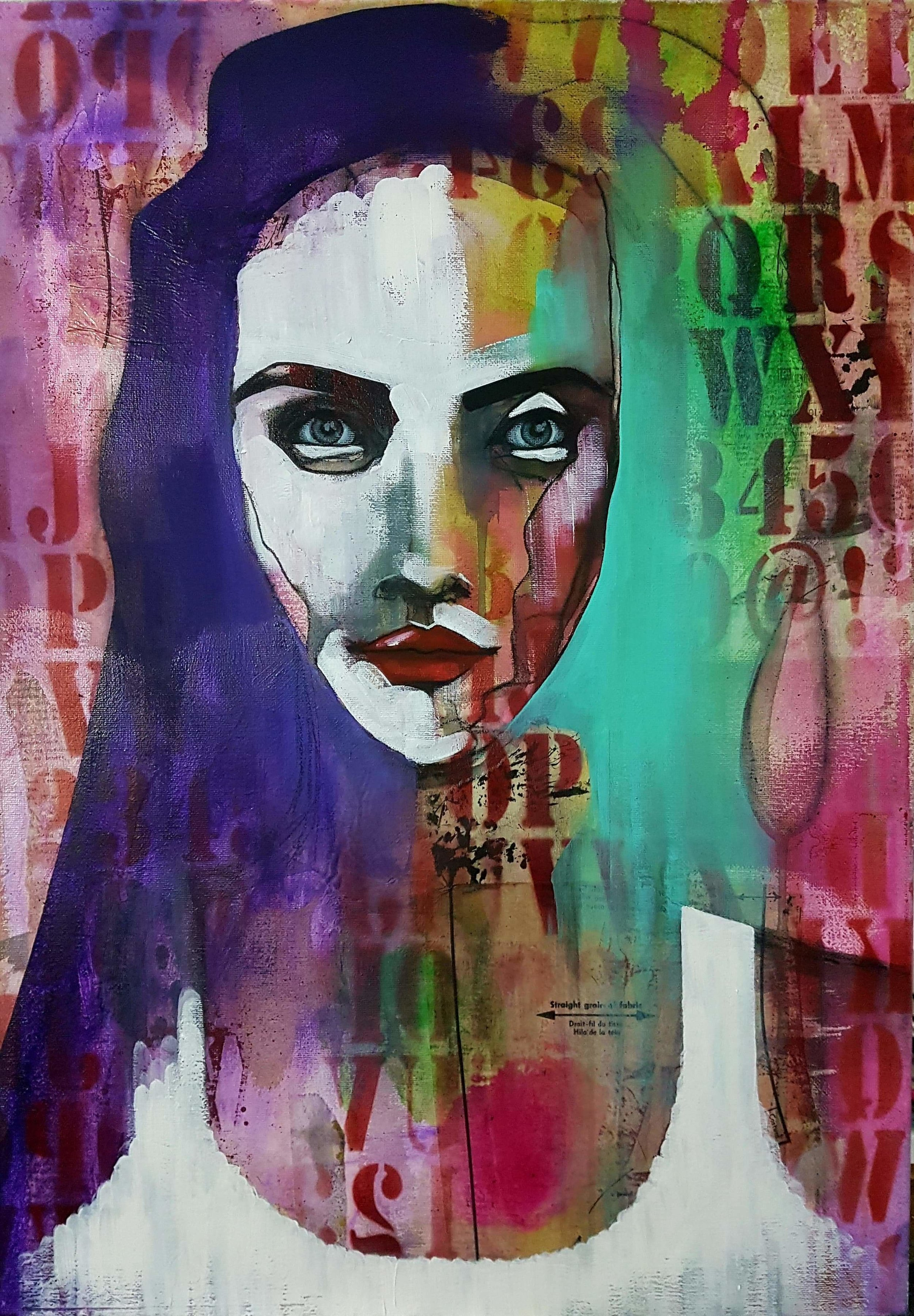 Mixed media artist Muriel Stegers