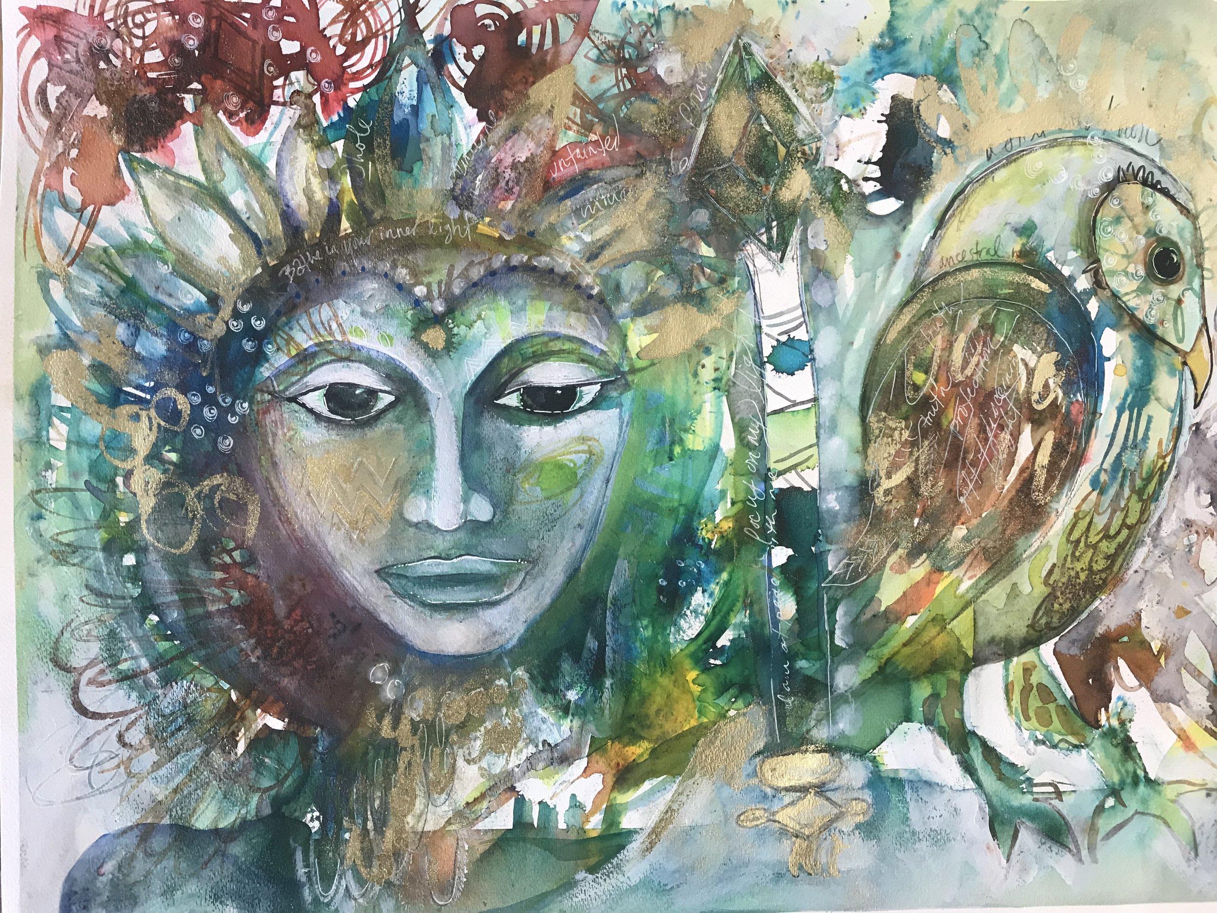 Whitney Freya art workshop