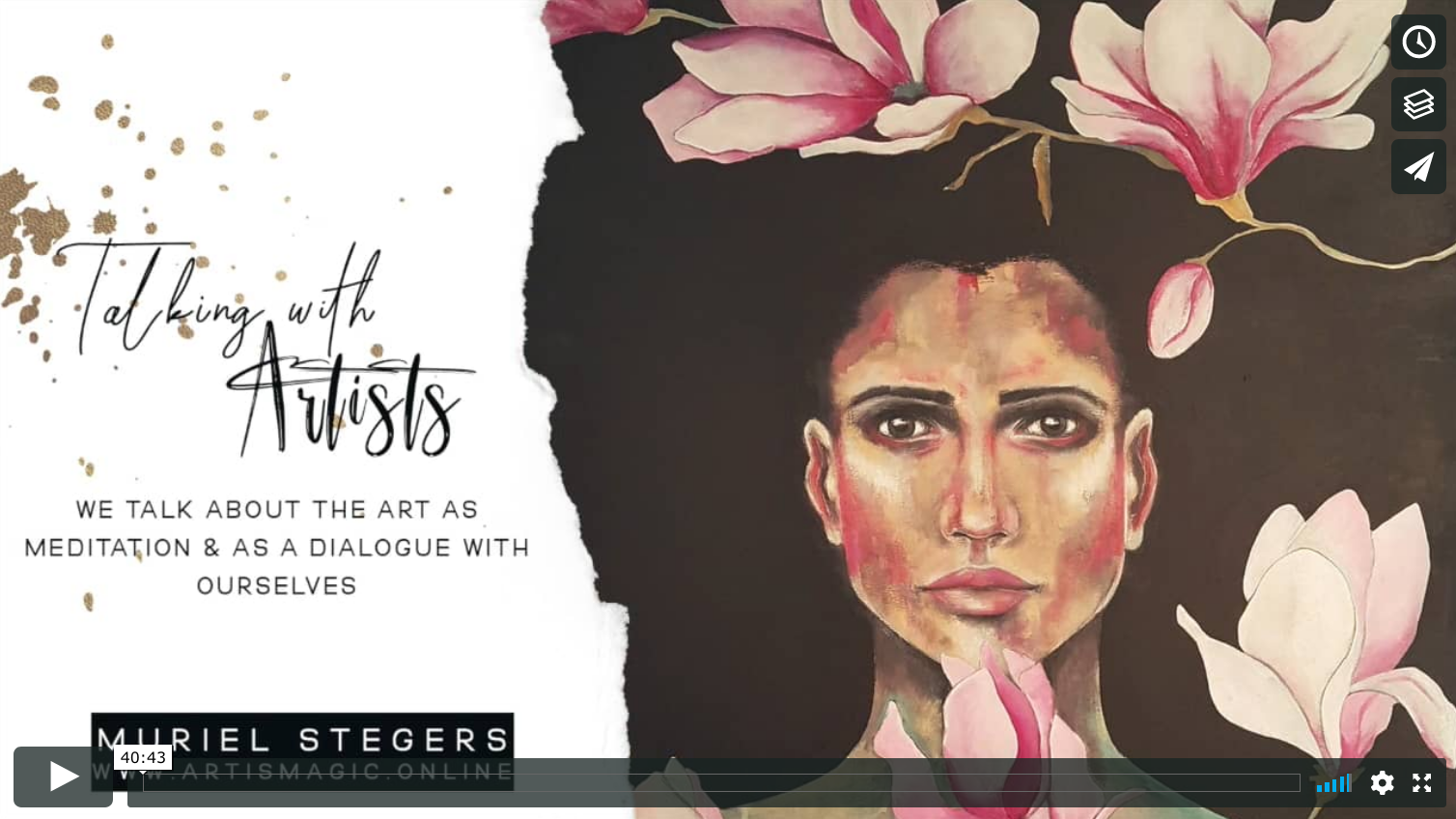 Talking with Artists Muriel Stegers