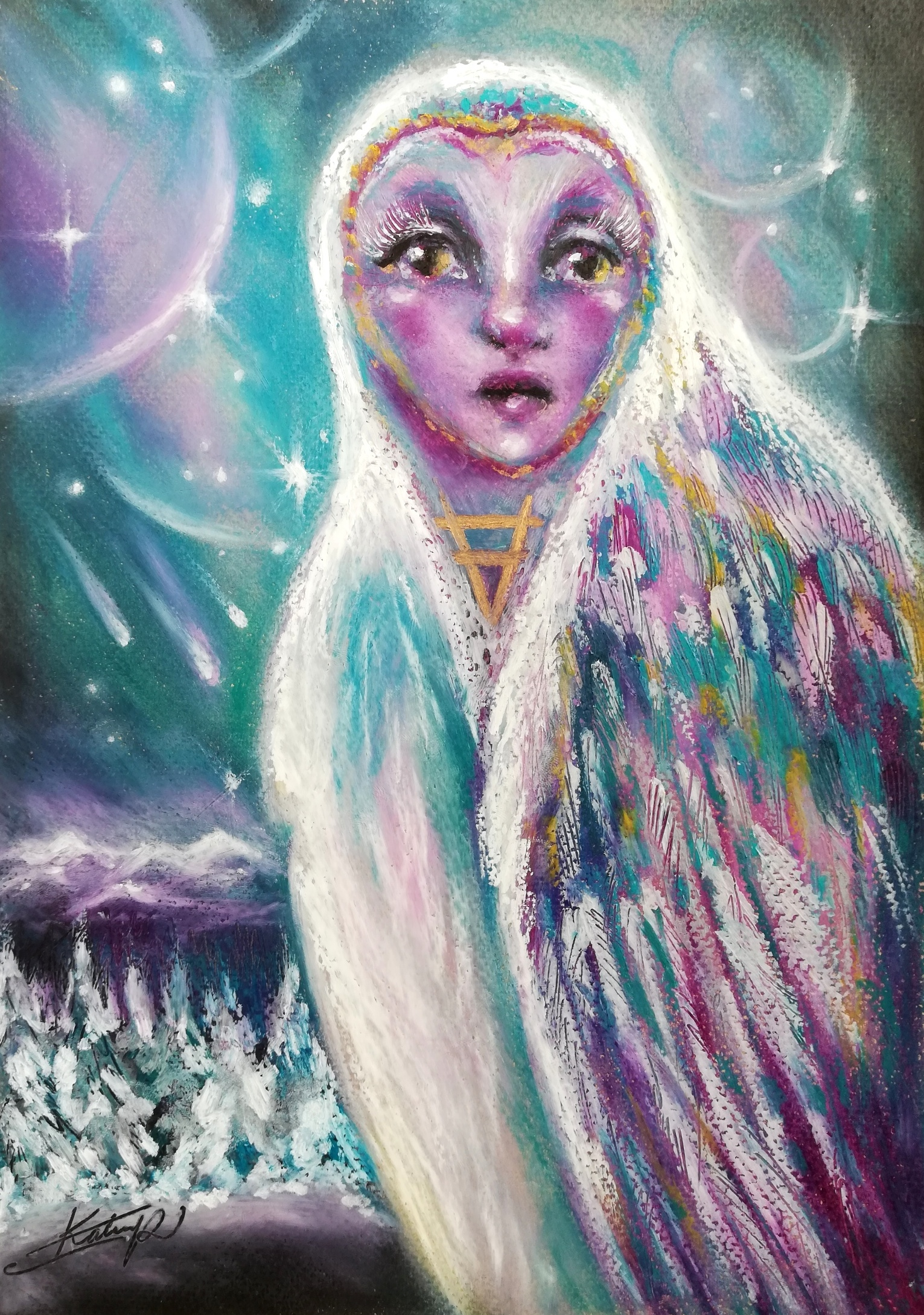 Earth guardian - Since a few years I have started working more closely with spirit animals and totems, and love to include them in my art. In this lesson we will create our spirit animal guardian with oil pastels. I will share my blending techniques, and how I like to use non-traditional colors and elements to create a story. We will work very intuitively, staying open to any changes or directions our intuition takes us. By painting our spirit animal we will be welcoming it's guidance and magic in our lives.