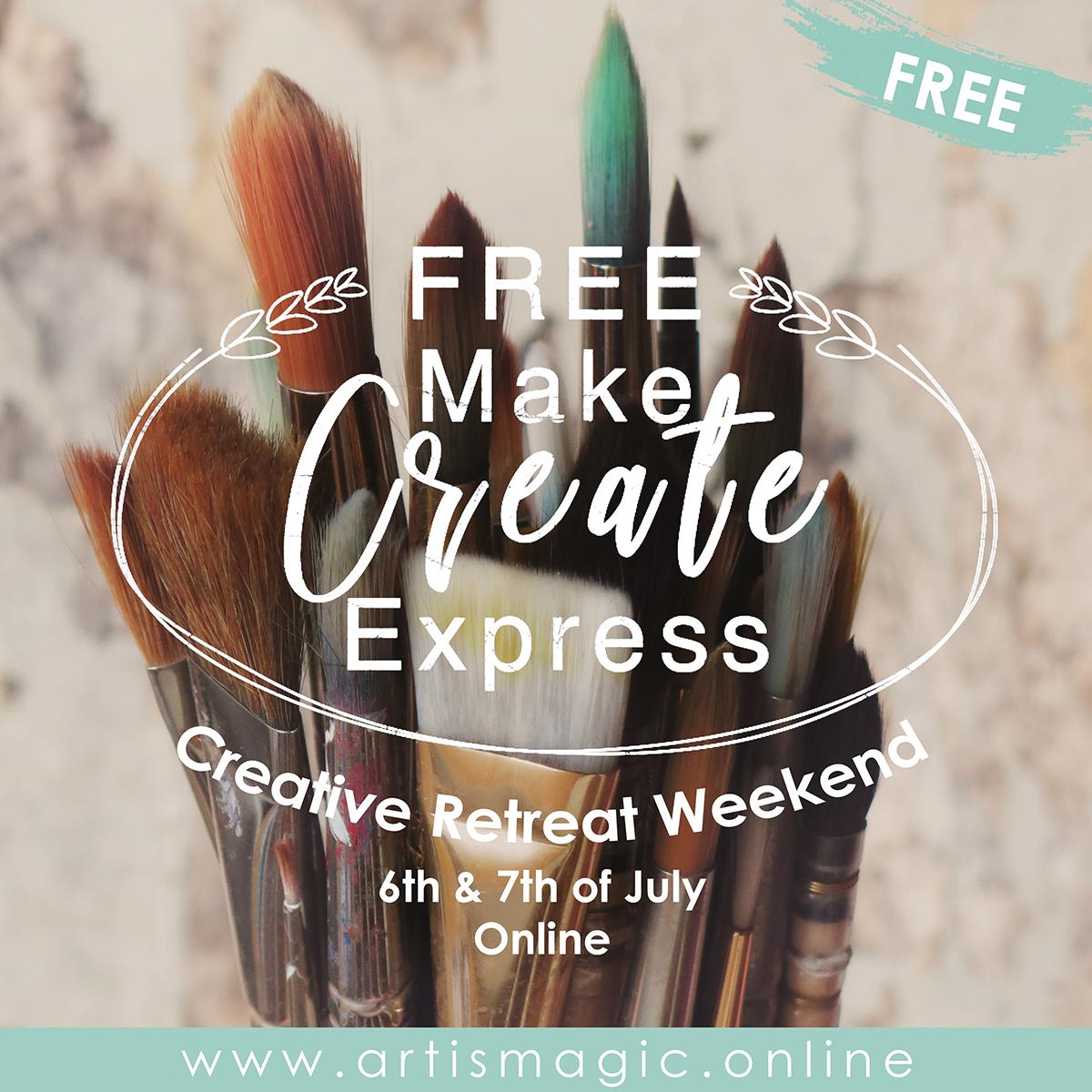 Make Create Express FREE Creative Retreat Weekend