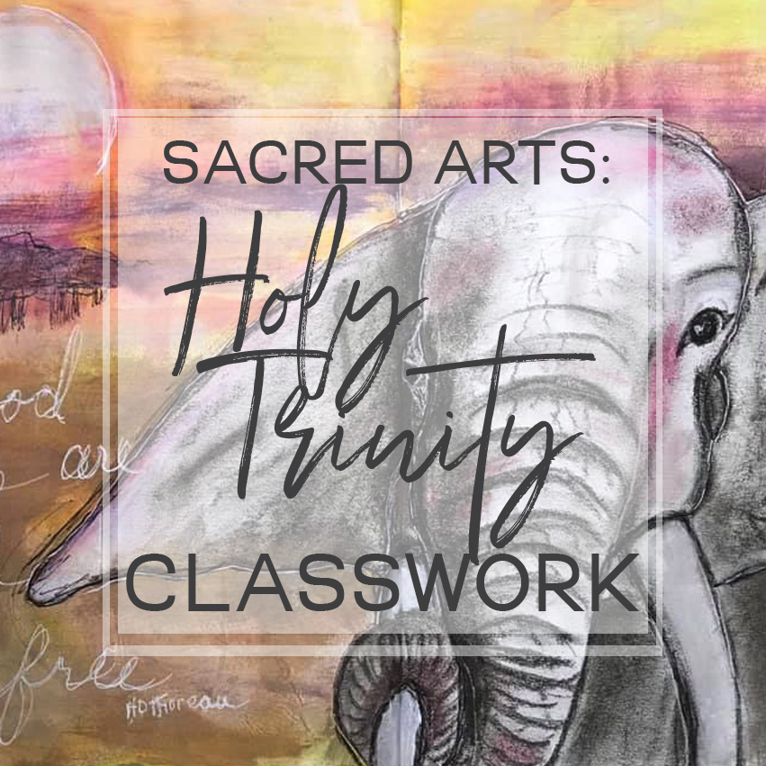 Sacred Arts The Holy Trinity mixed media workshop