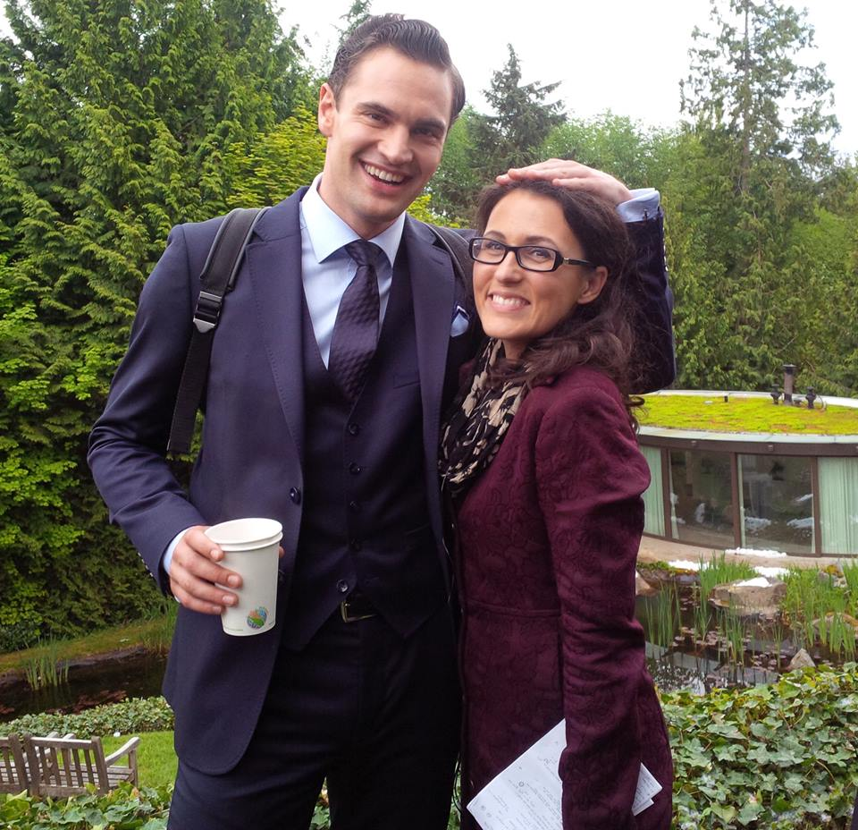 Tom Bateman and Cassandra