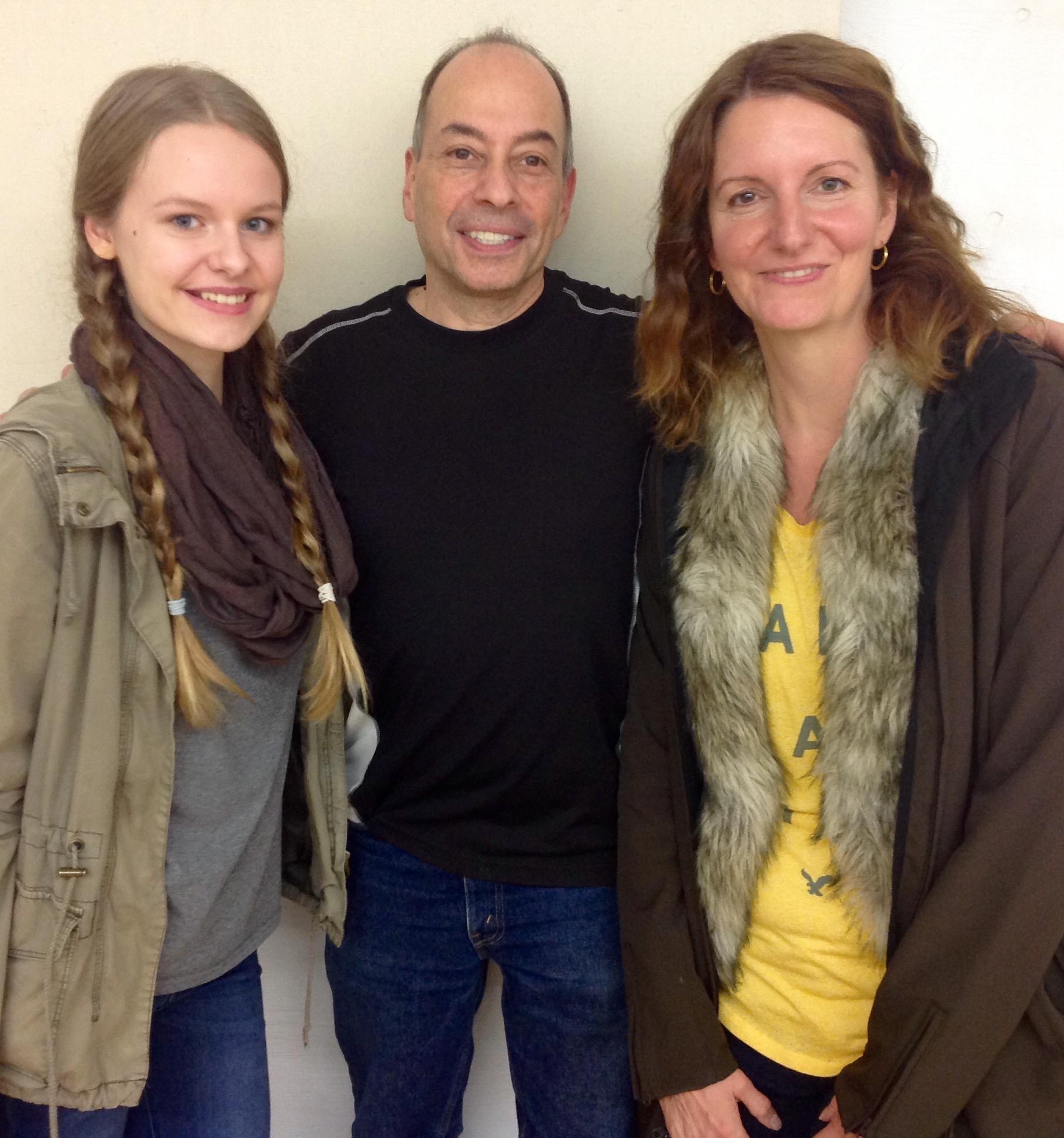 Jara Zeimer, Tony, and Britta Zeimer