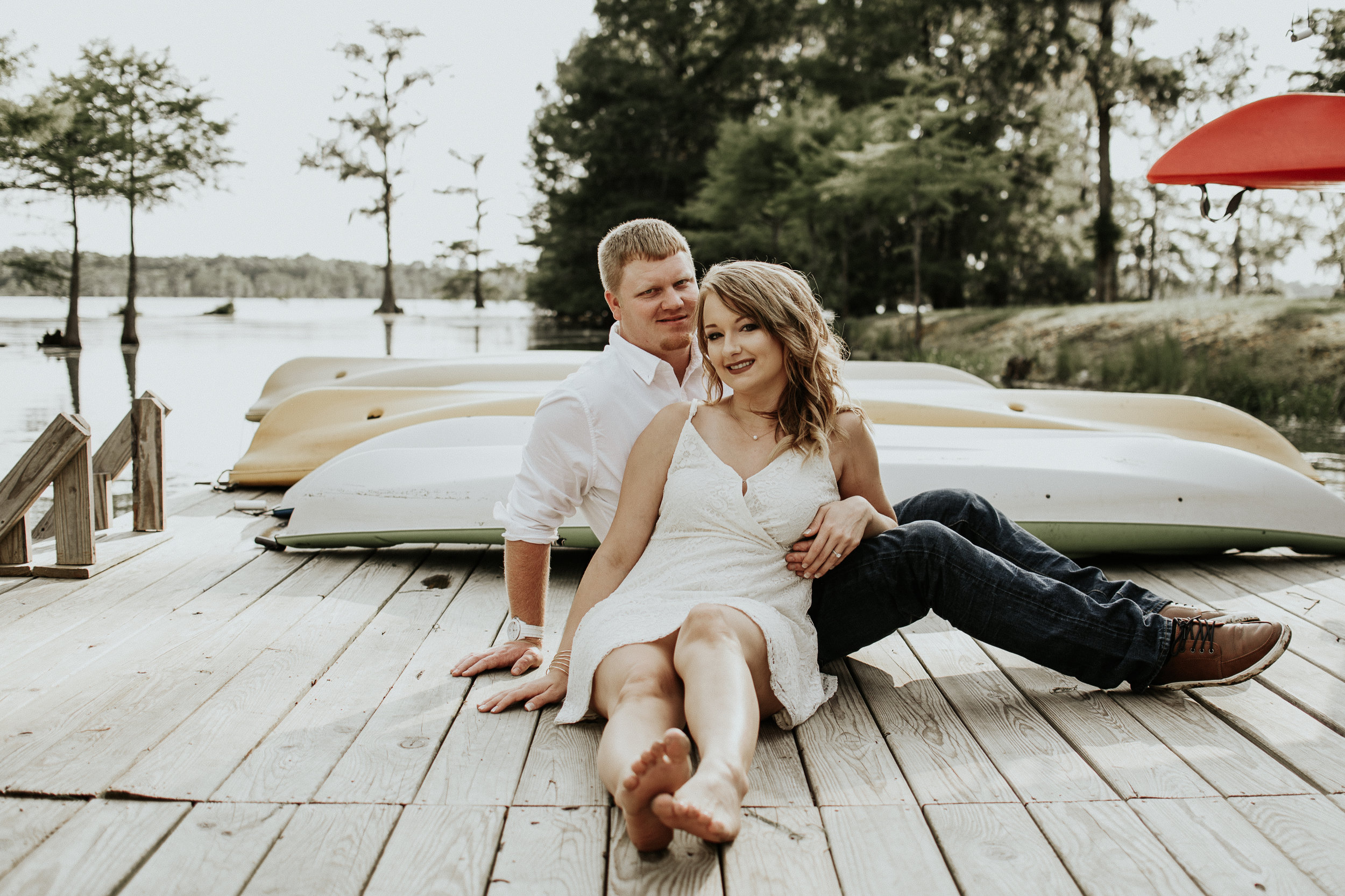 Breaux Bridge, Louisiana Swamp Engagement Session surrounded by Bald Cypress Tree's.Baton Rouge, Louisiana Wedding Photographer, Magnolia and Grace Photography.