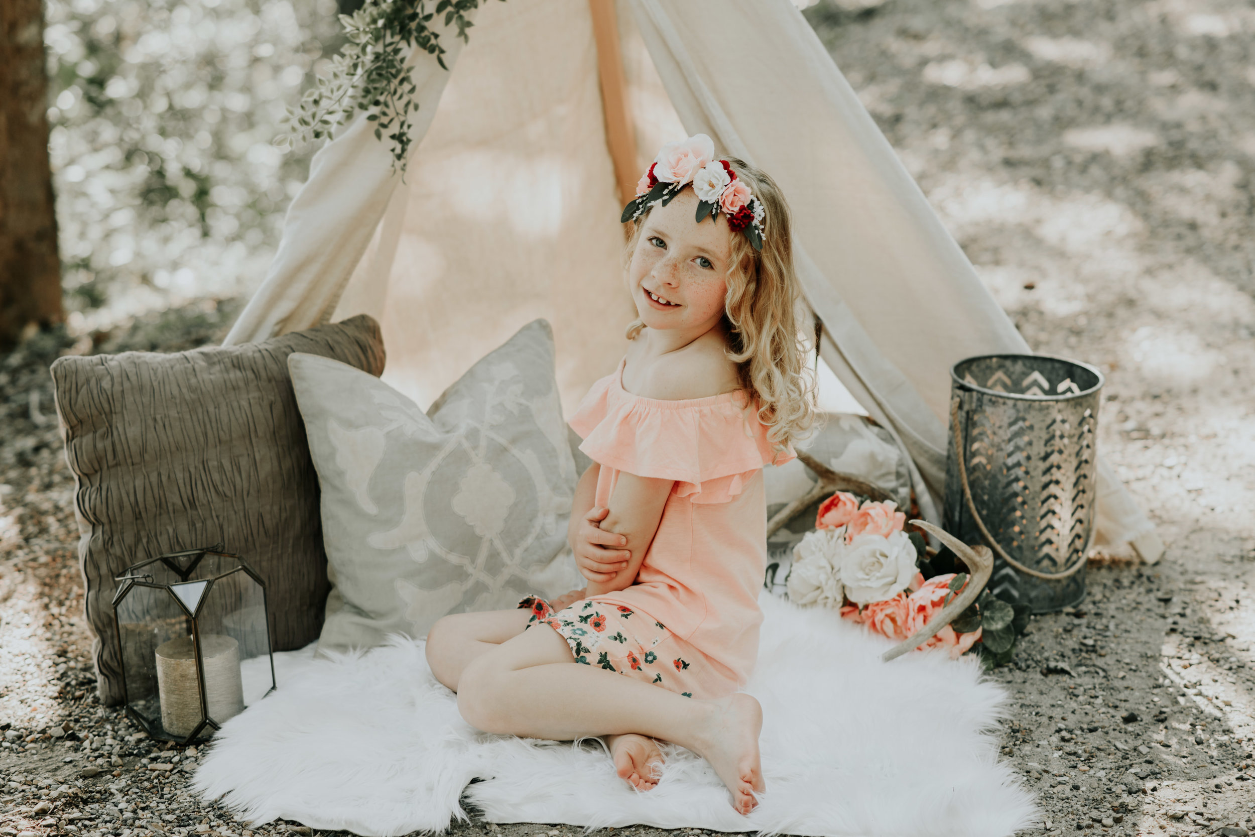 Mommy and Me Boho Styled Mini Session located in Clinton photographed by Magnolia and Grace Photography.