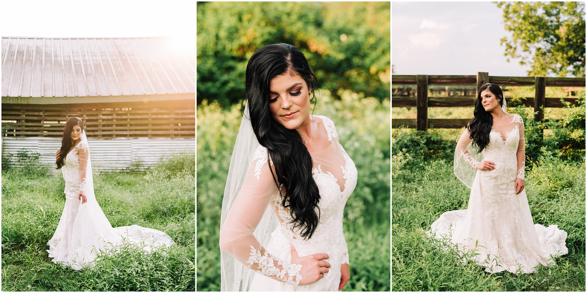 Bridal Portrait Session in Darrow, Louisiana on a farm. Country land with horse. Photographed by Magnolia and Grace Photography. A wedding and family portrait photographer located in Denham Springs. Baton Rouge, Lafayette, Gonzales, New Orleans, Mandeville, and Southern Louisiana Photographer.