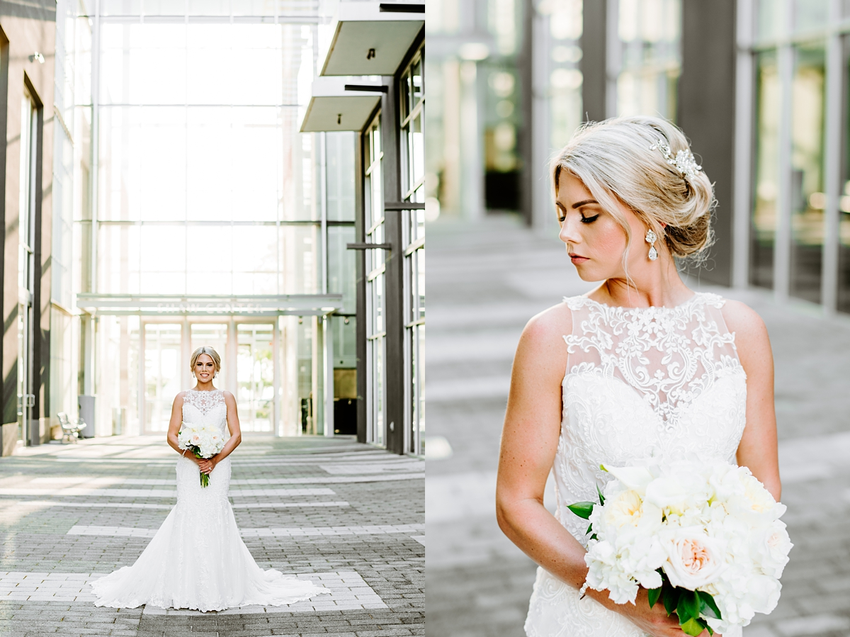 Baton Rouge Downtown Bridal Session Shaw Center