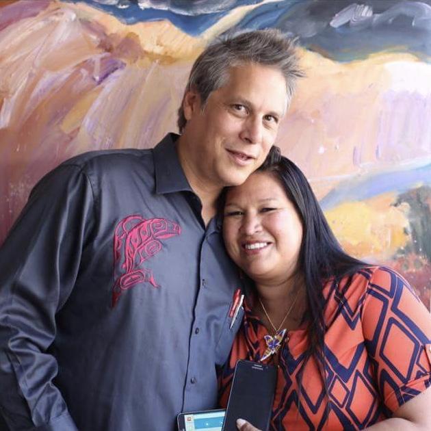 Mateo Romero  and wife Melissa pose affectionately.