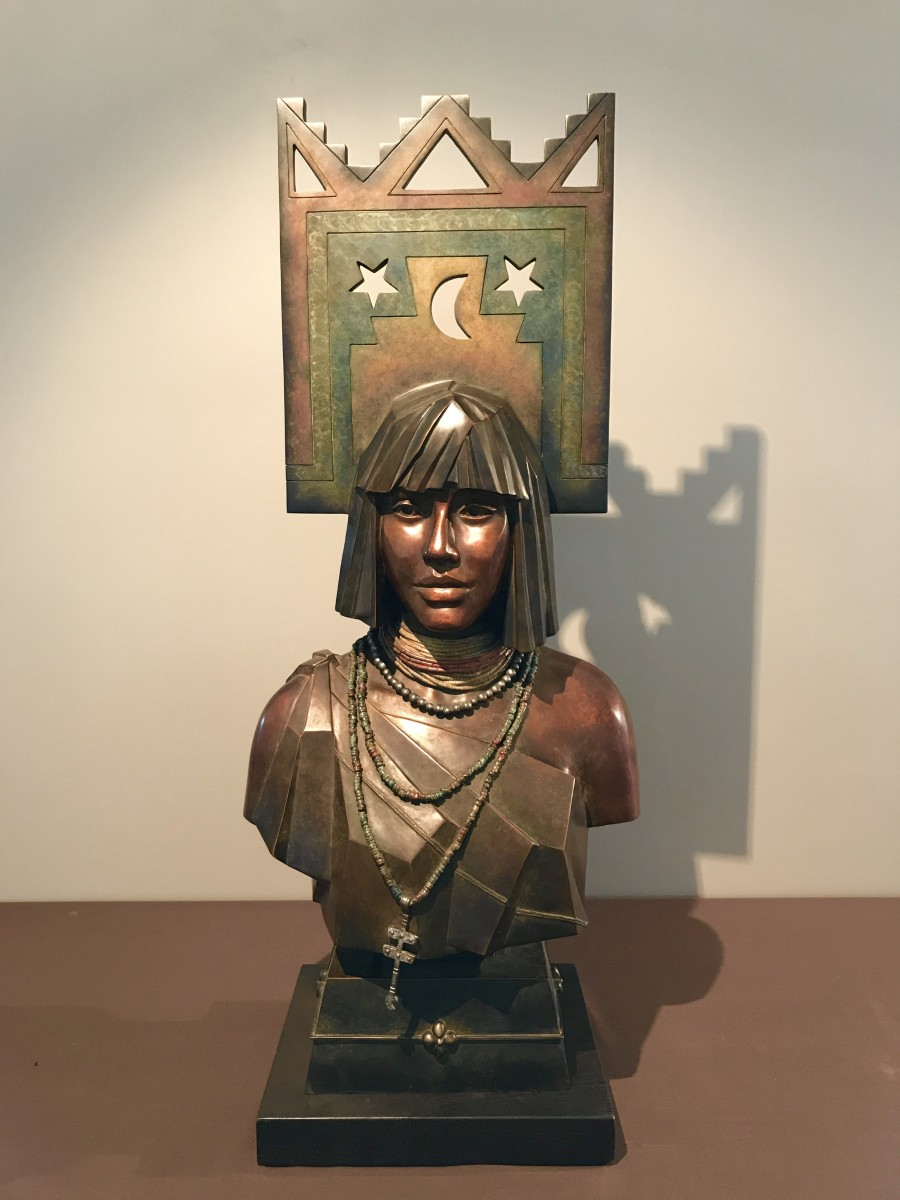 "A bronze creation of Tammy's modeled after her eldest daughter and titled,  ""Leah."""