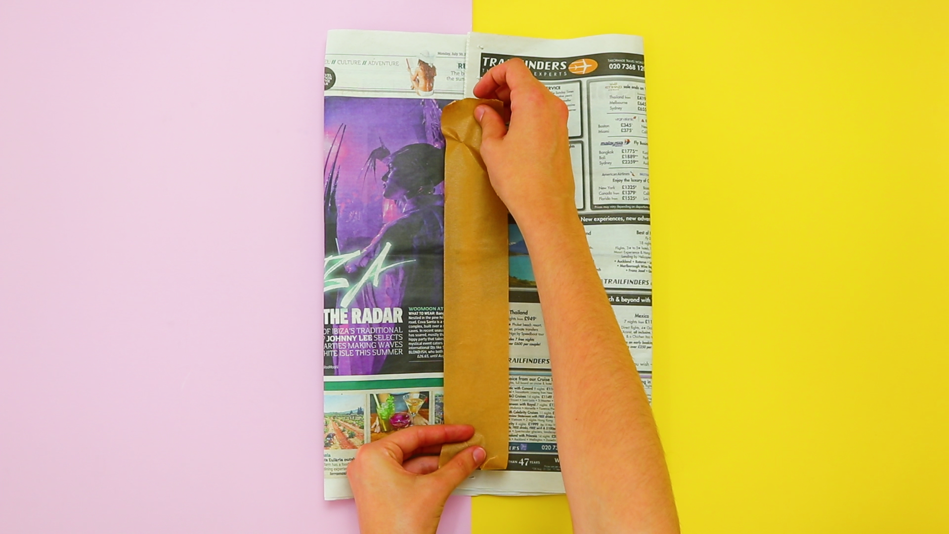 What you need: - 1) 3 double sheets of old newspaper.2) Some biodegradable tape.3) 5 minutes of your time.Watch the video to find out how to assemble your bin.