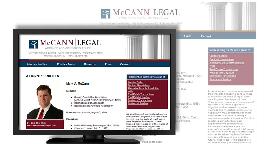 McCann Legal Web Site