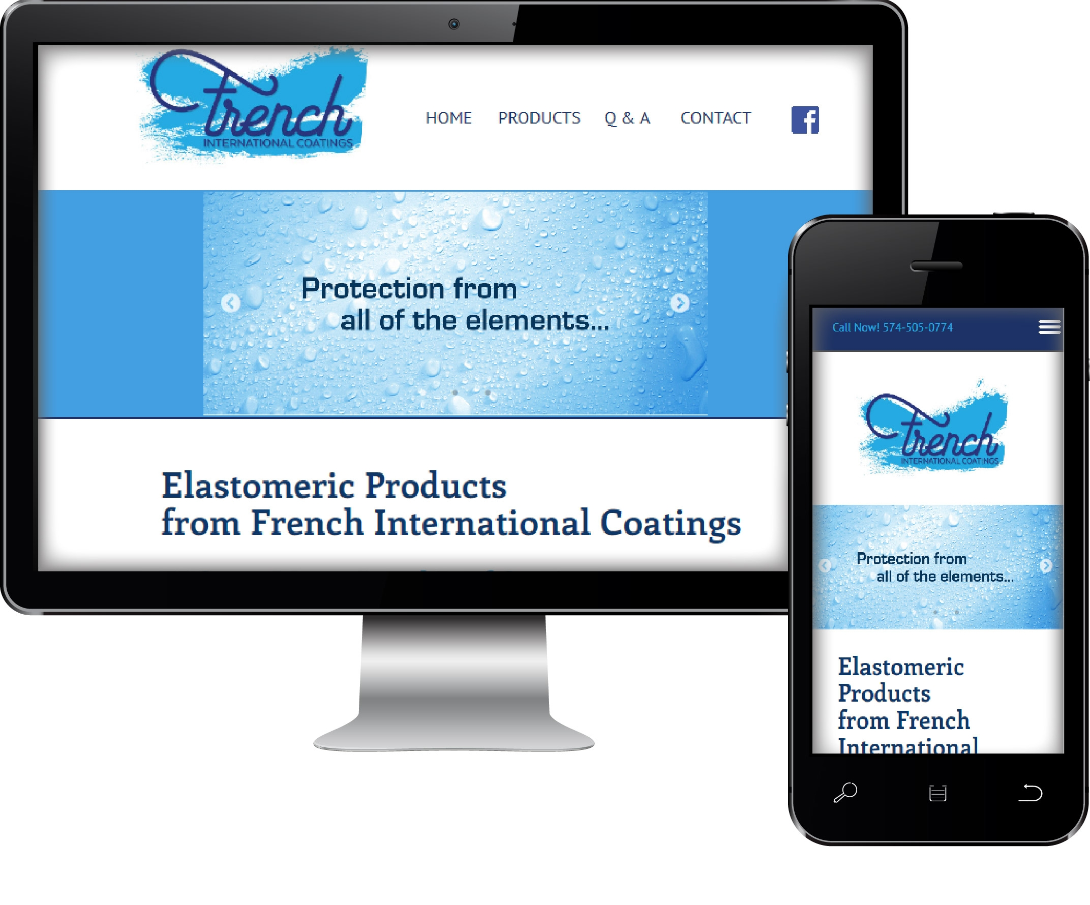 French International Coatings Web Site Design
