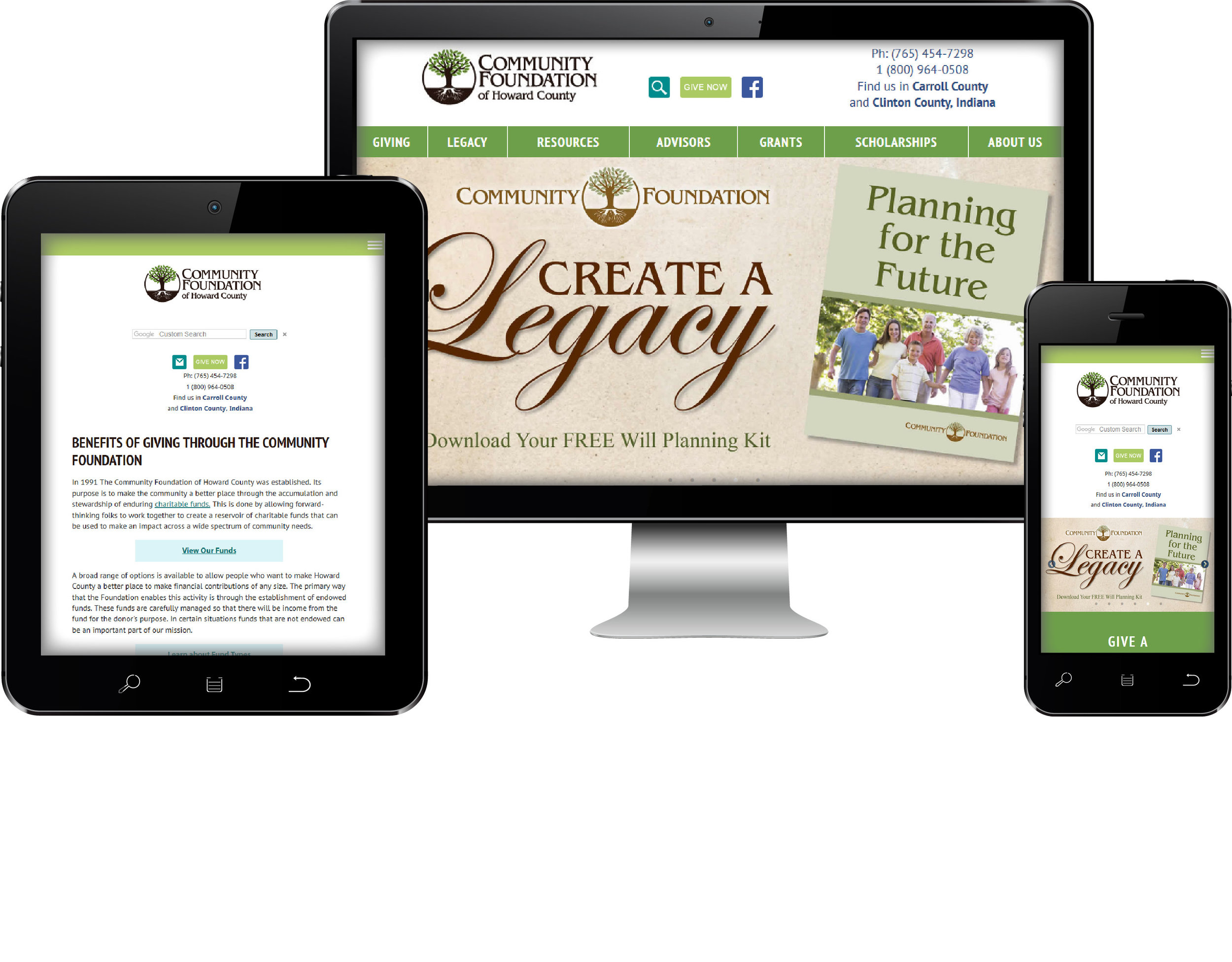 Community Foundation of Howard County Responsive Site Design