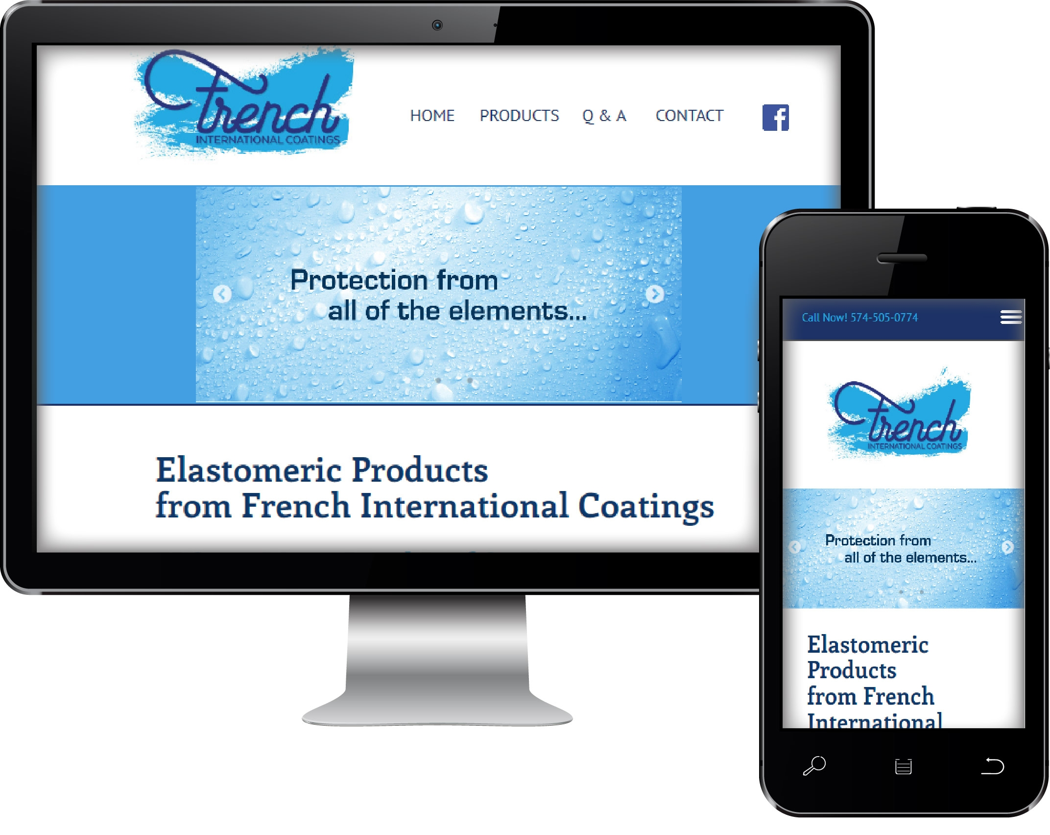 Responsive Web Site Design on Mobile Phone and Desktop