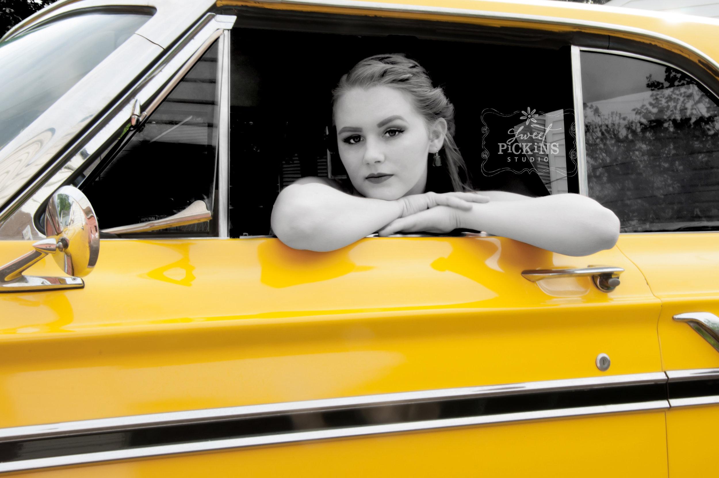 Classic Car Senior Photography