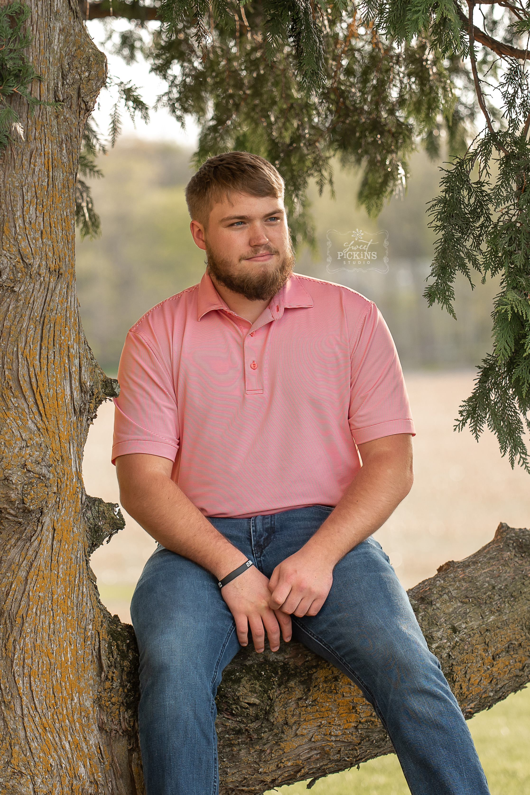 Class of 2019 Senior Guy Session by Sweet Pickins Studio | Sunset on Indiana Farm