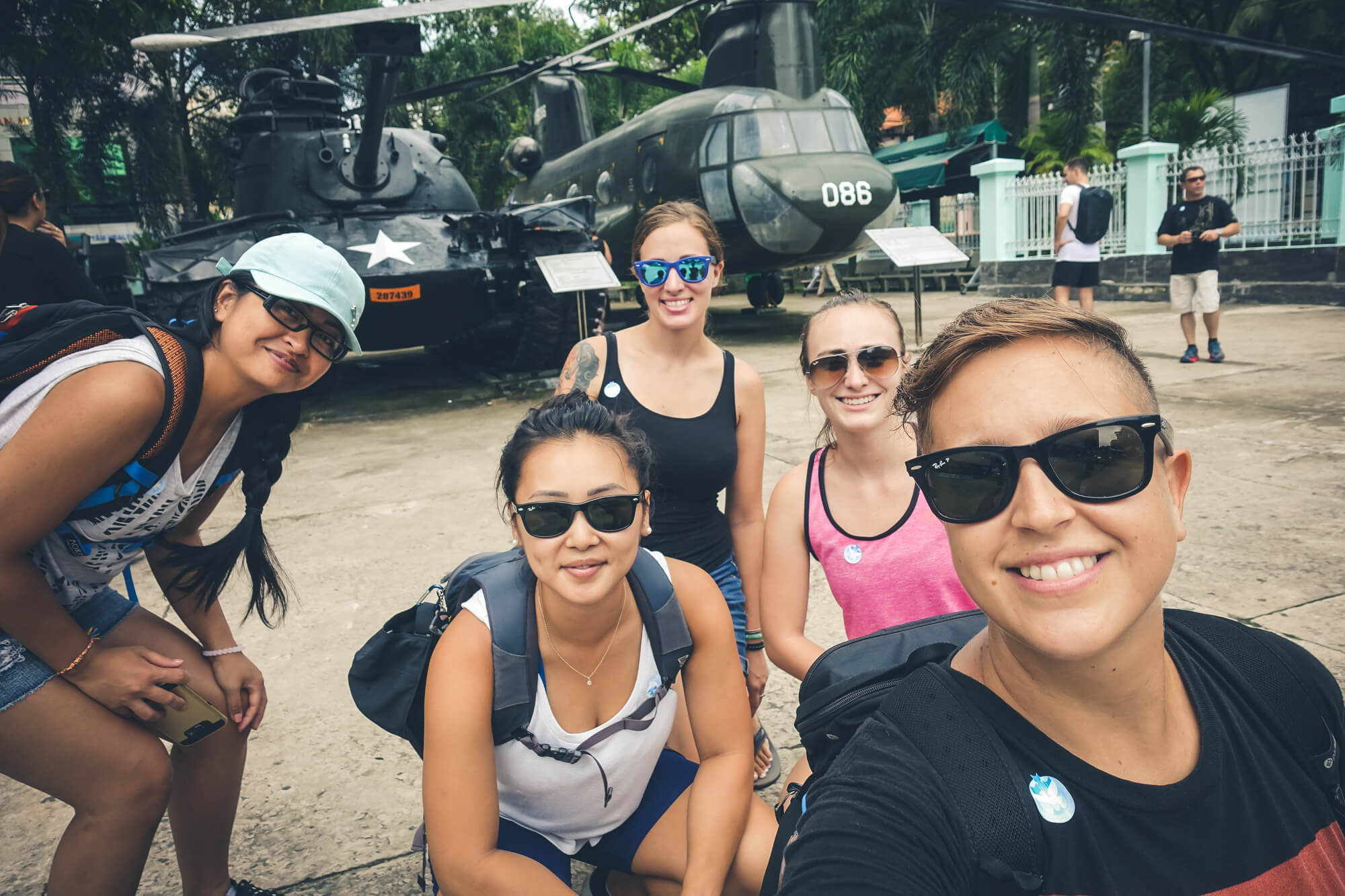 Exploring Ho Chi Minh with our newly made friends