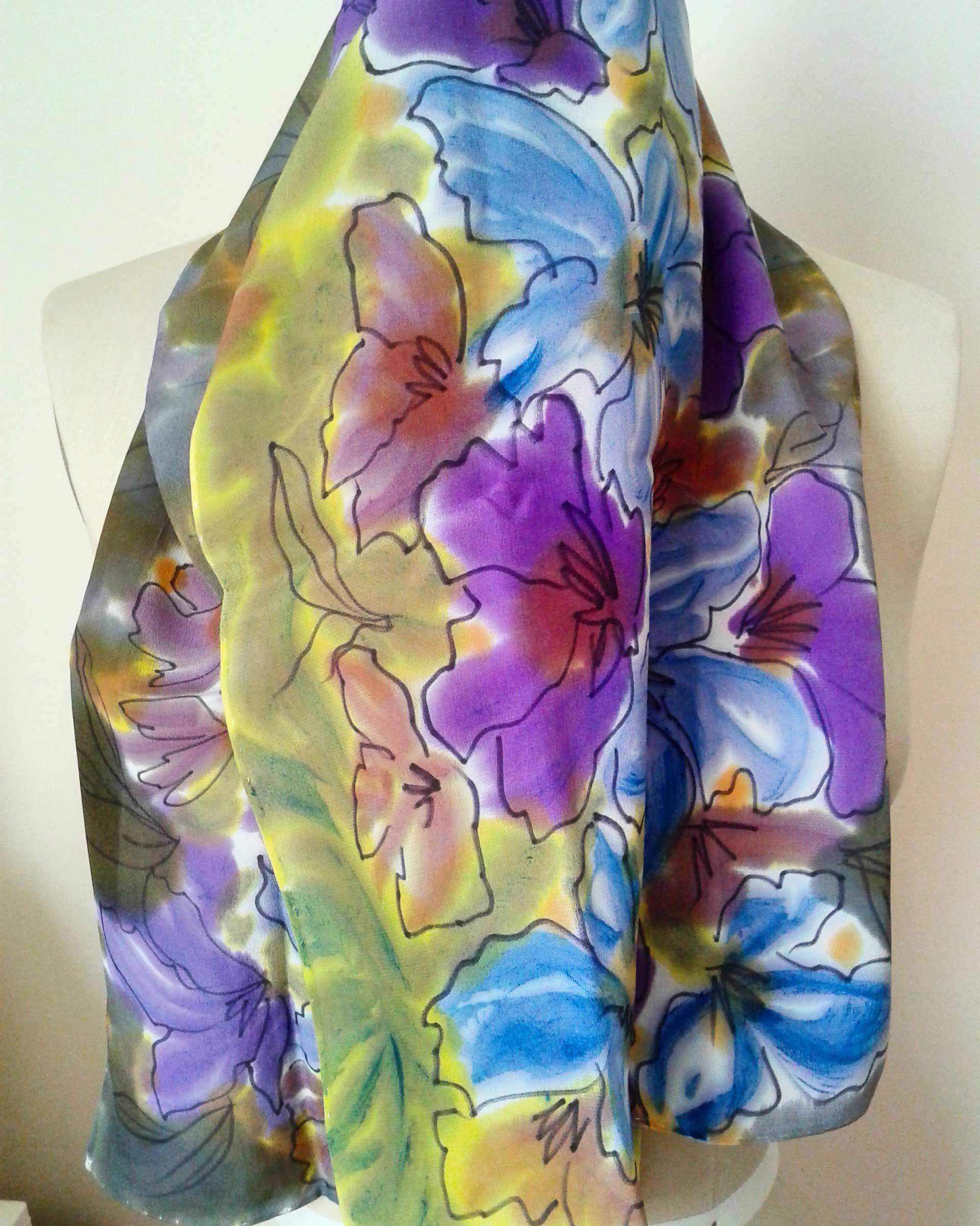 Purple and Blue (draped)