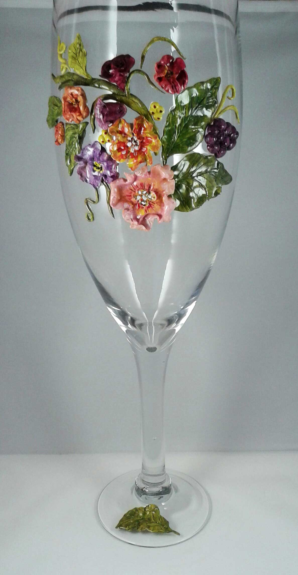 Vase in the Shape of a Wine Glass