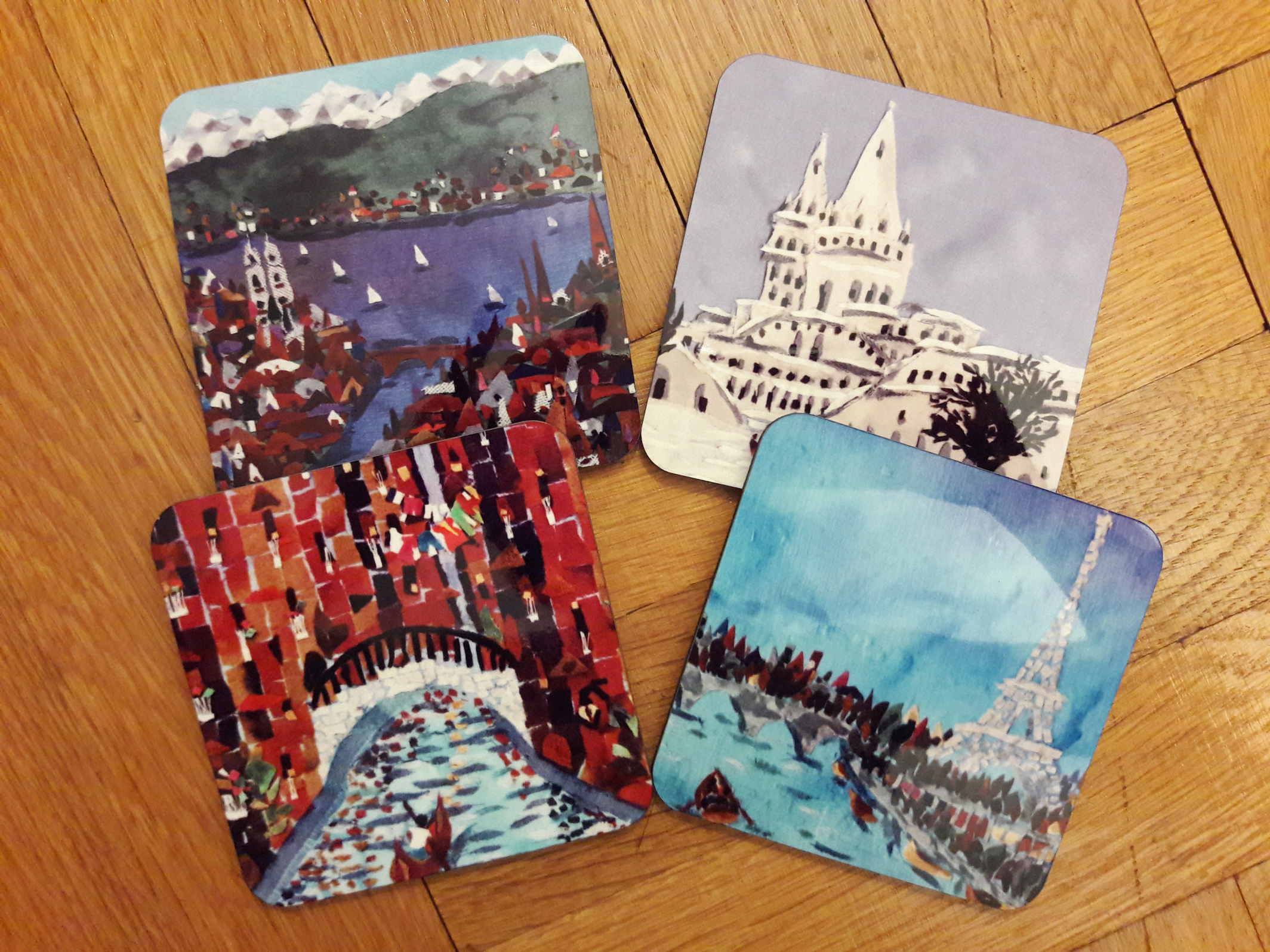 Fabric Collage Coasters