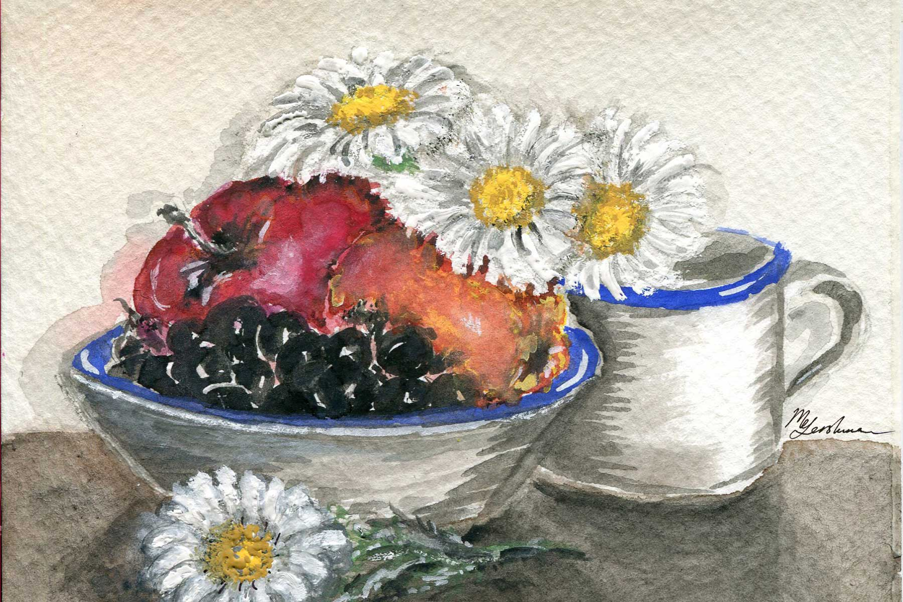 Daisies with Fruits
