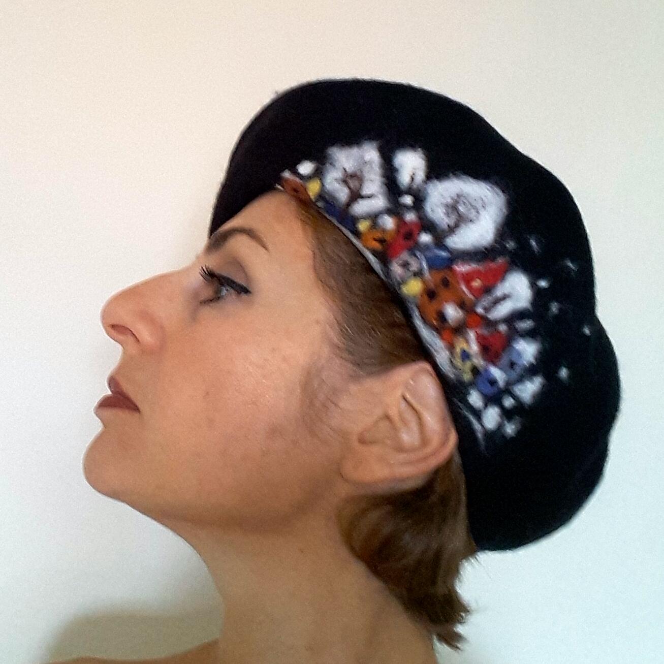 Black beret with winter scene.jpg