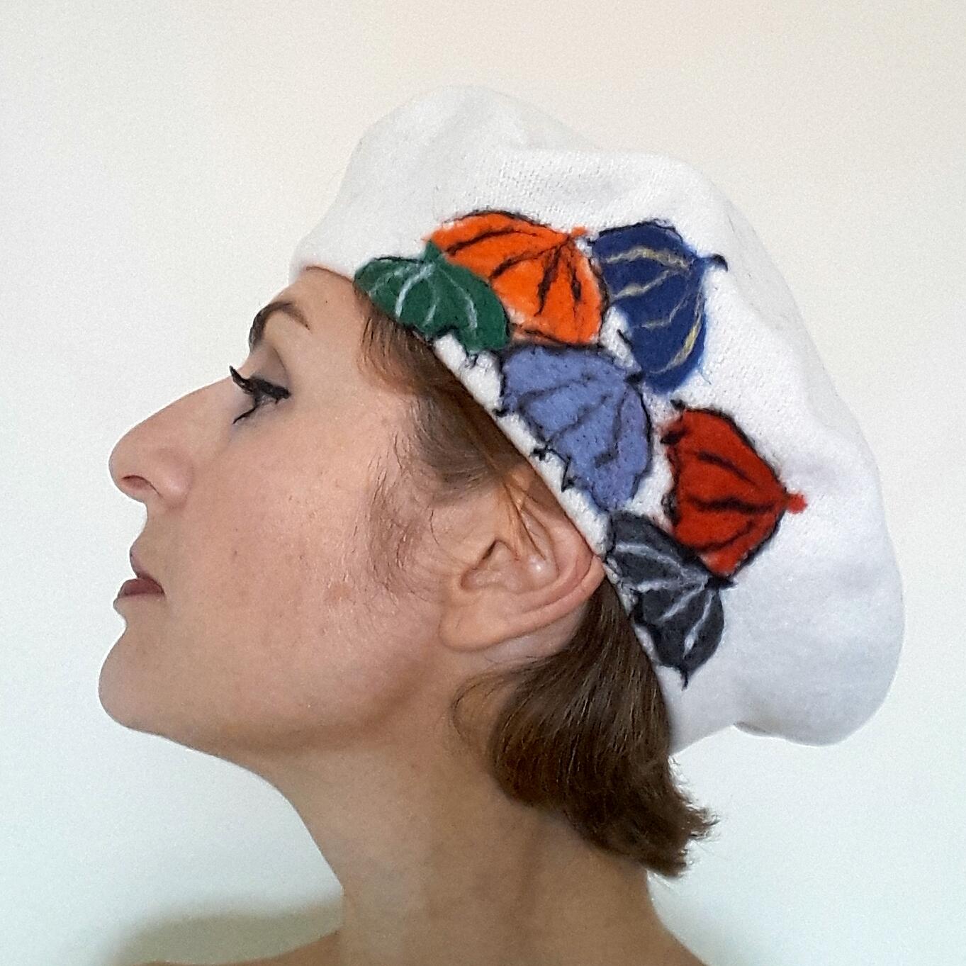 White beret with umbrellas .jpg