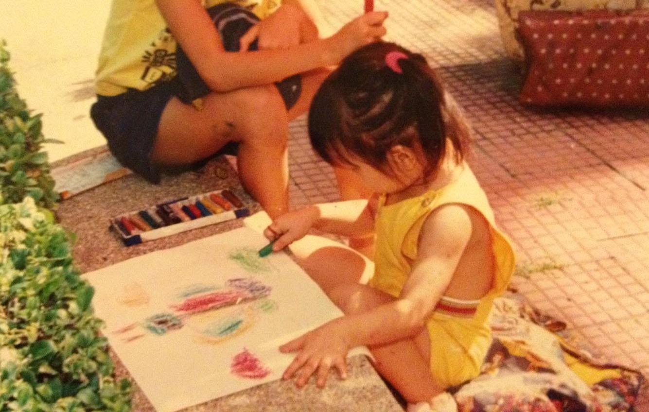 """Baby Kim Vu, starting her dreams early in Saigon, Vietnam -circa 1992"""