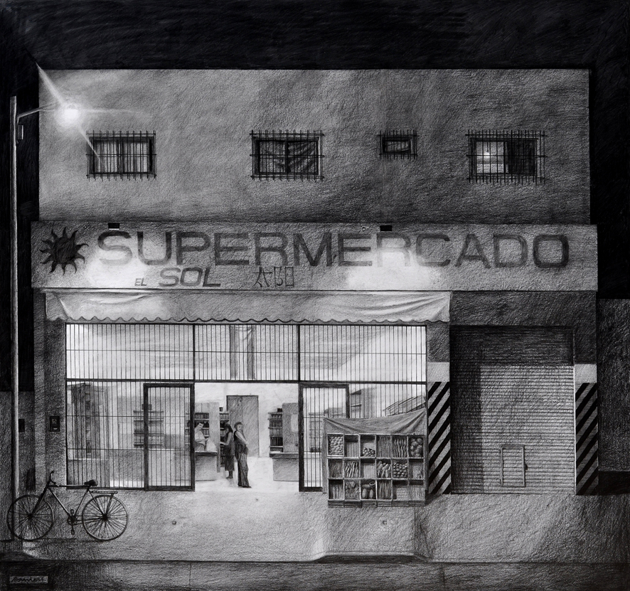 Juan Ranieri - Los Chinos 123x130 - Grafito sobre papel - 2013 - baja.jpg