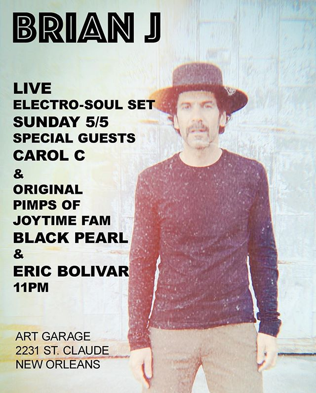 @brian.janxta.j ... After a a few years break from Ableton, my love of looping and beat making is renewed. I'll be rocking this set with original @pimpsofjoytime drummer @ericbolivar and special guest and PJT collaborator @gnosounds #BlackPearl. Ill also be joined by the amazing @carolcnyc of #sise. We will be rockin' the @instrumenthead stage 5/5 11PM