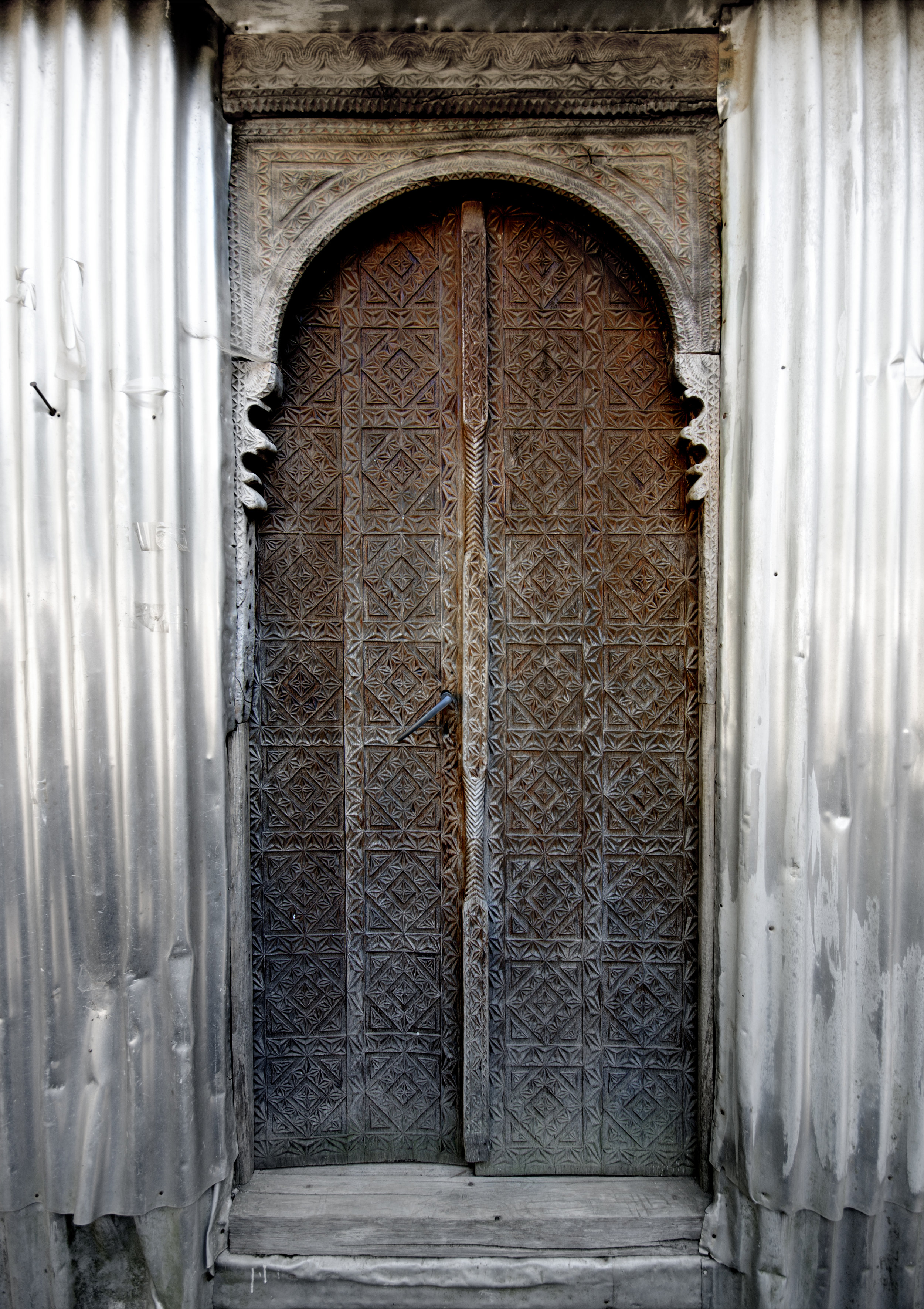 Akho (  ახო)  village mosque door detail © all images copyright Wooden Mosques Project